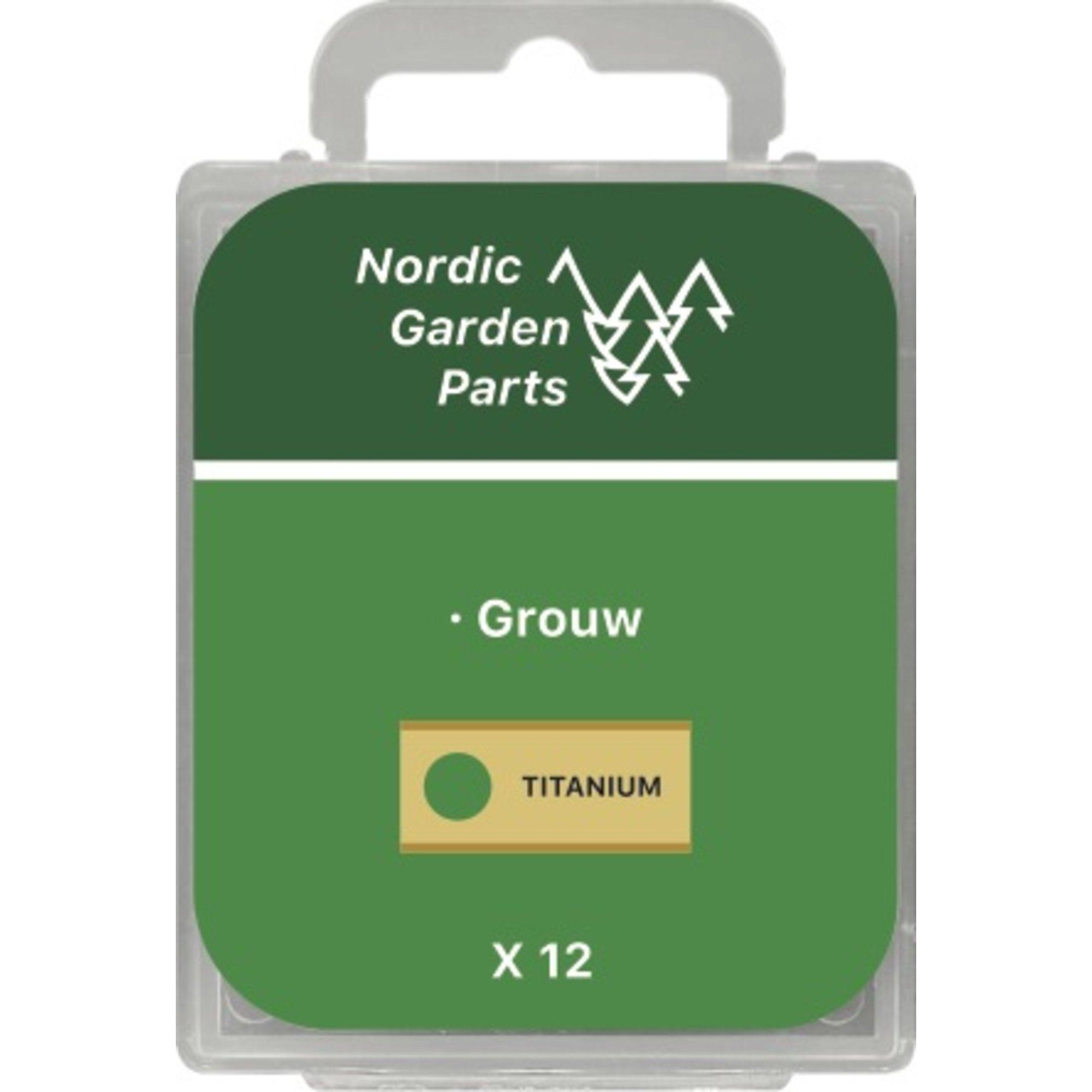 Nordic Garden Parts Rostfri stålkniv 0,9 mm. till Grouw 12 st.