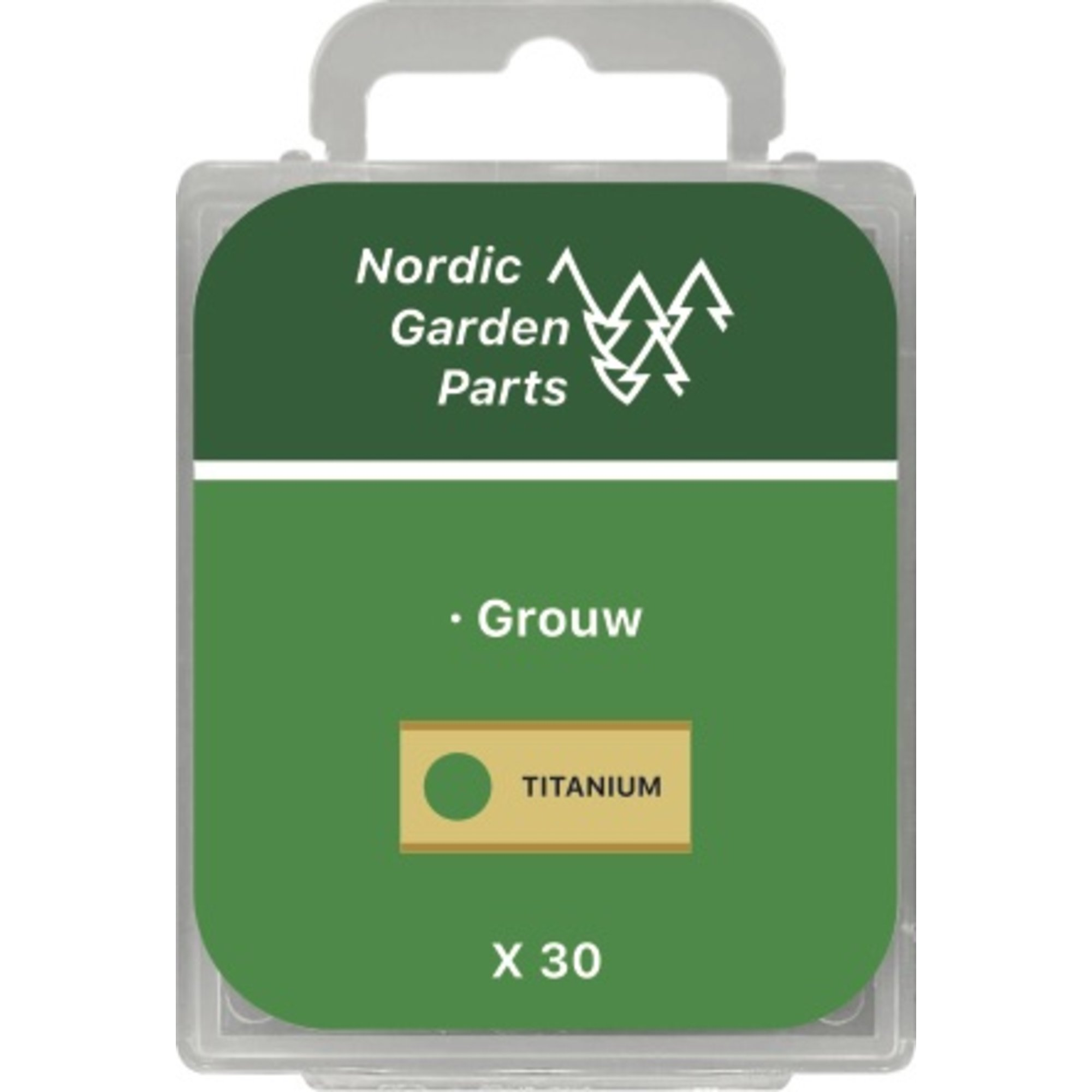 Nordic Garden Parts Rostfri stålkniv 0,9 mm. till Grouw 30 st.
