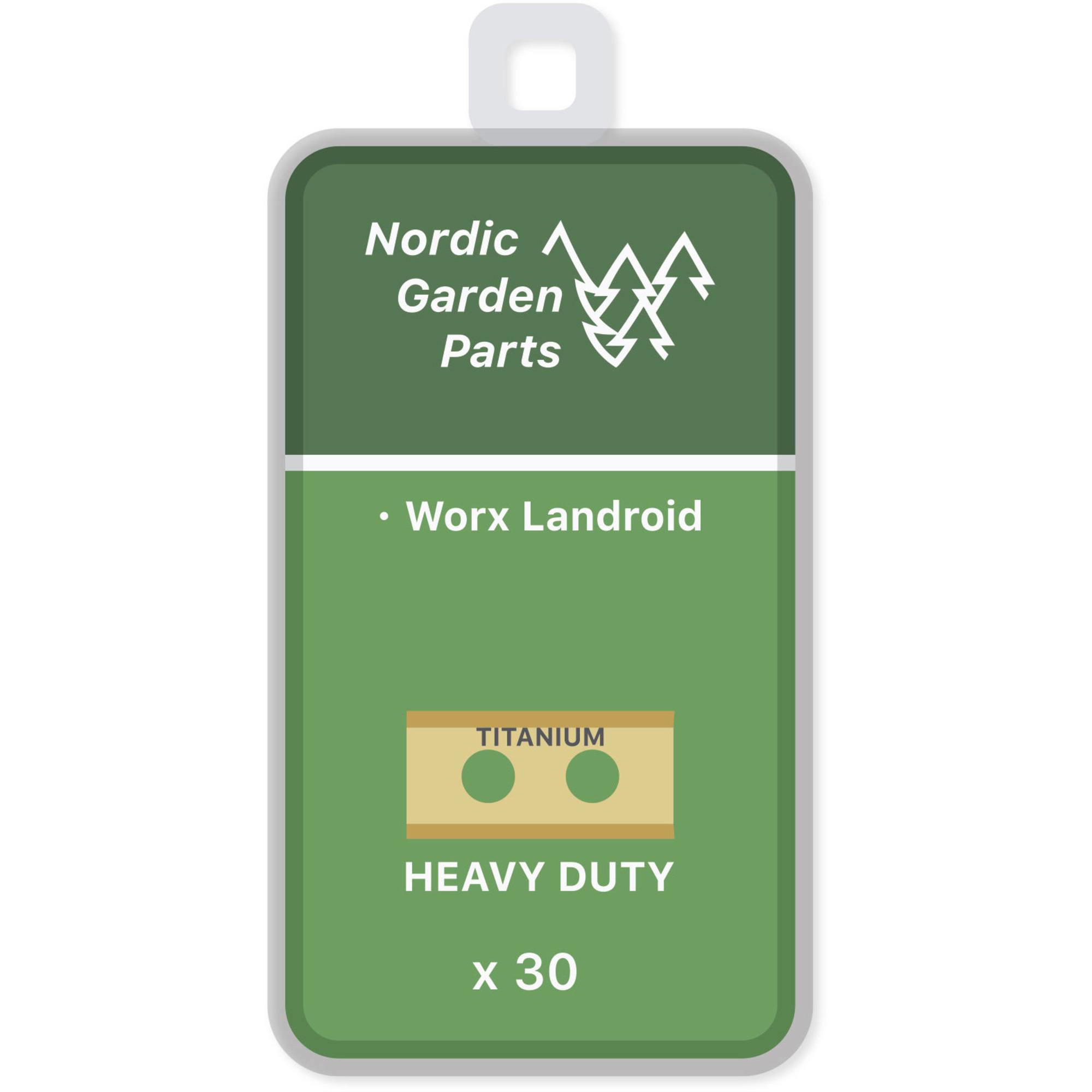 Nordic Garden Parts Titanbelagda knivar till Worx Landroid 30 st.