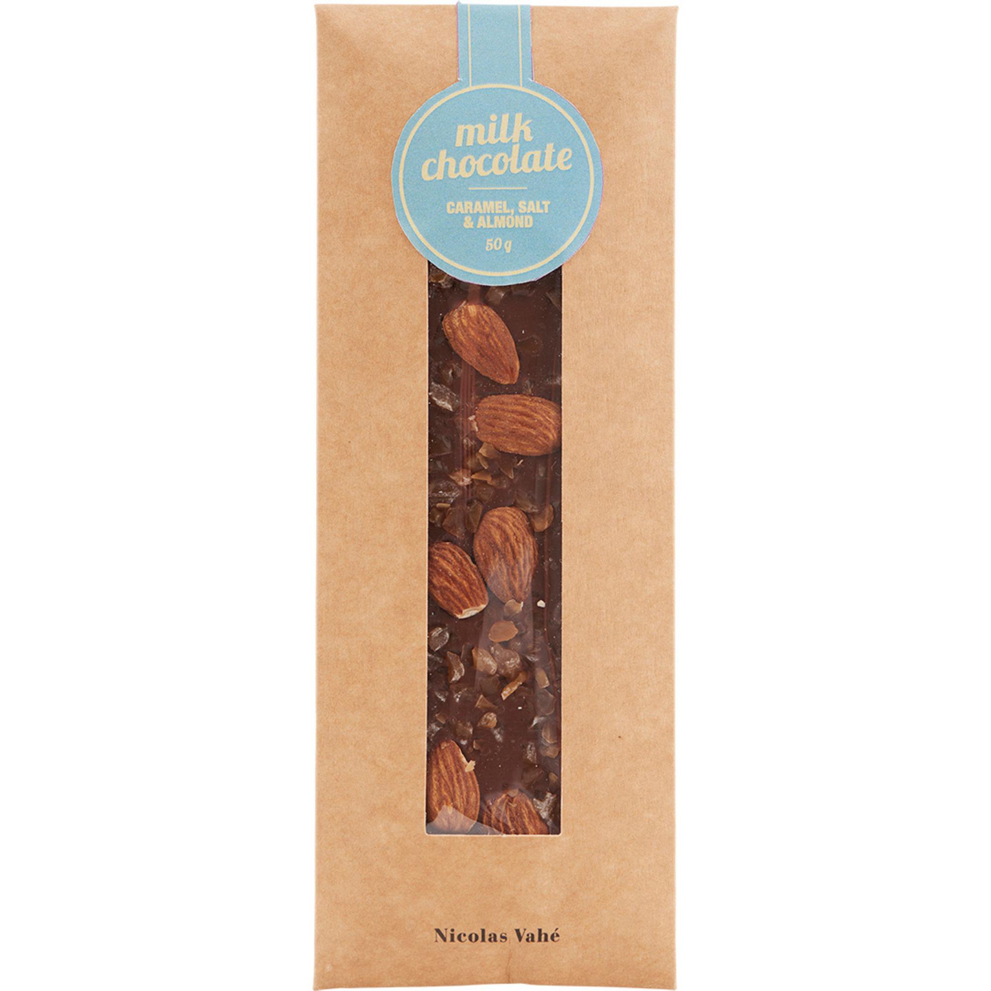Nicolas Vahé Mjölkchoklad med Karamell Salt och Mandlar 50 g