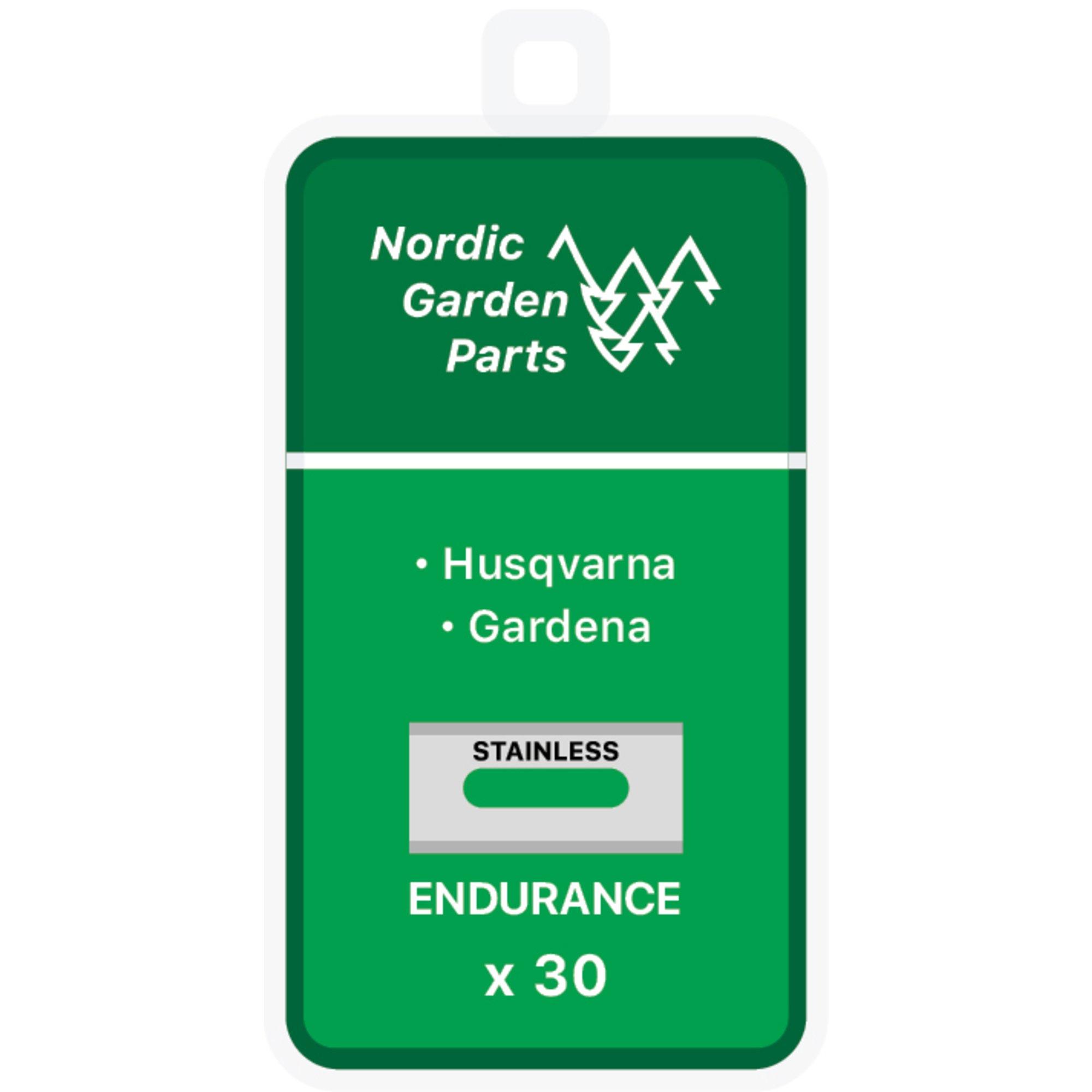 Nordic Garden Parts Endurance stålknivar till Husqvarna & Gardena 30 st