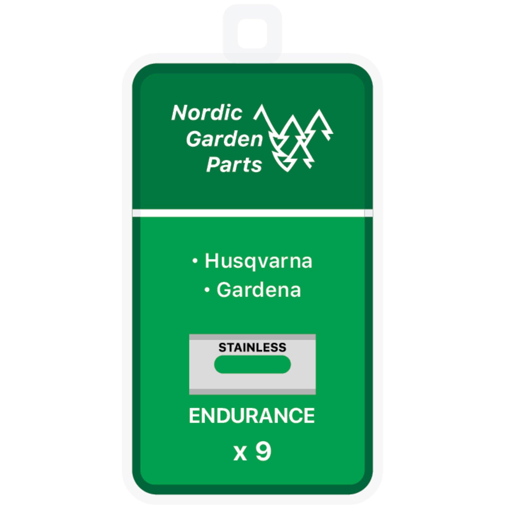 Nordic Garden Parts Endurance stålknivar till Husqvarna & Gardena 9 st