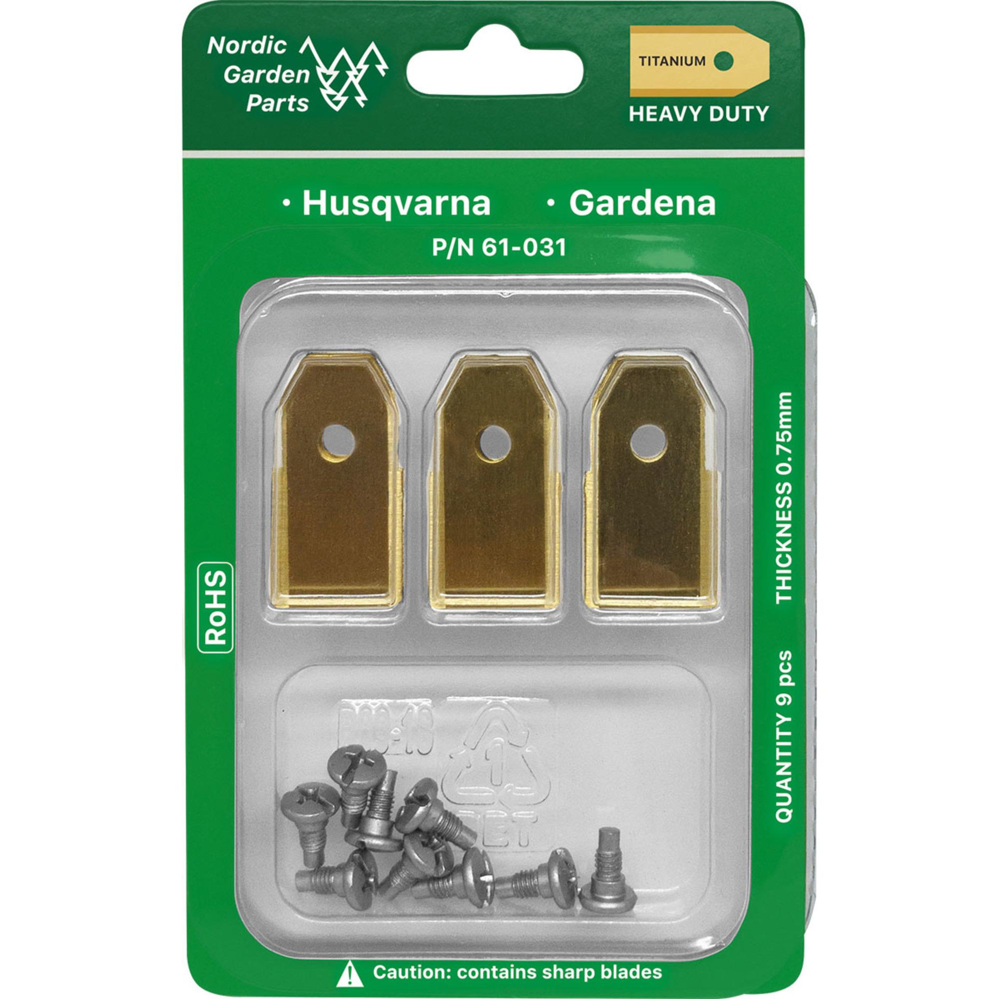 Nordic Garden Parts Titanbelagda knivar 0,75 mm 9 st.