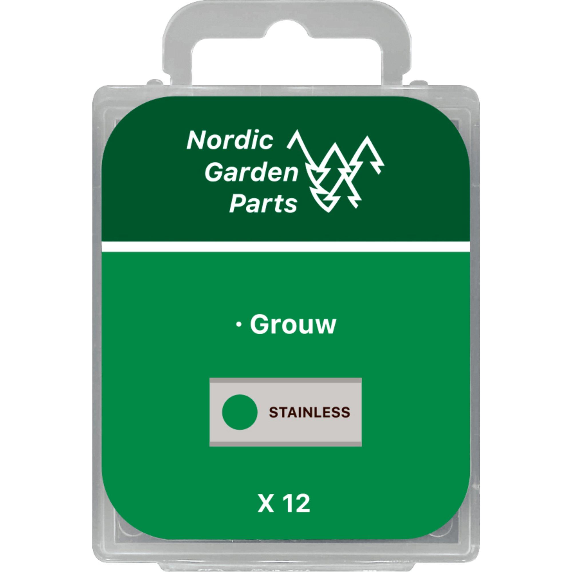 Nordic Garden Parts Kniv till Grouw robotgräsklippare 0,9 mm. 12 st.