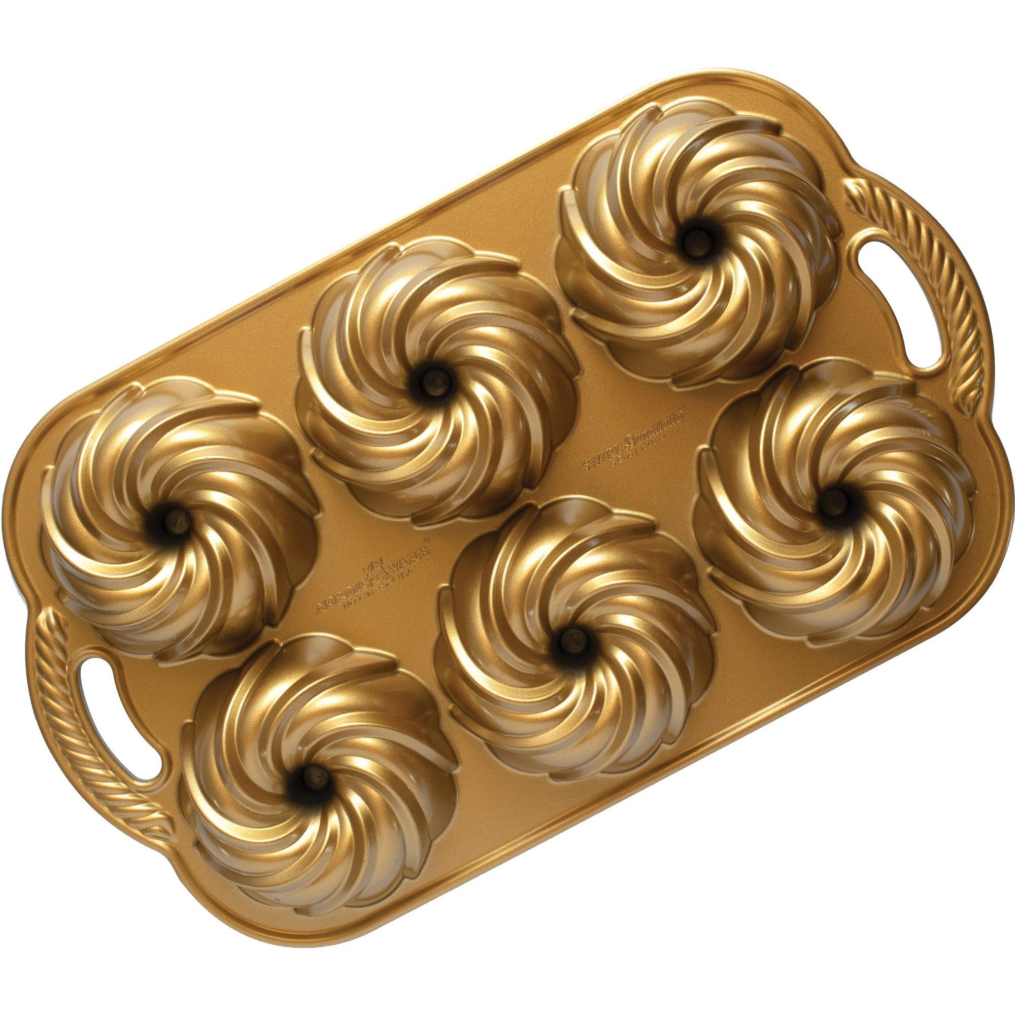 Nordic Ware Swirl Bundtlette Bakform 24 liter