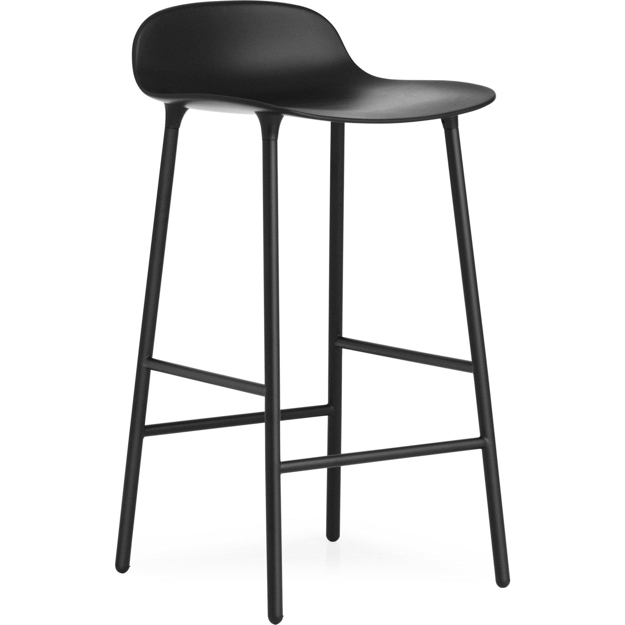 Normann Copenhagen Form Barstool 65 cm Steel Black