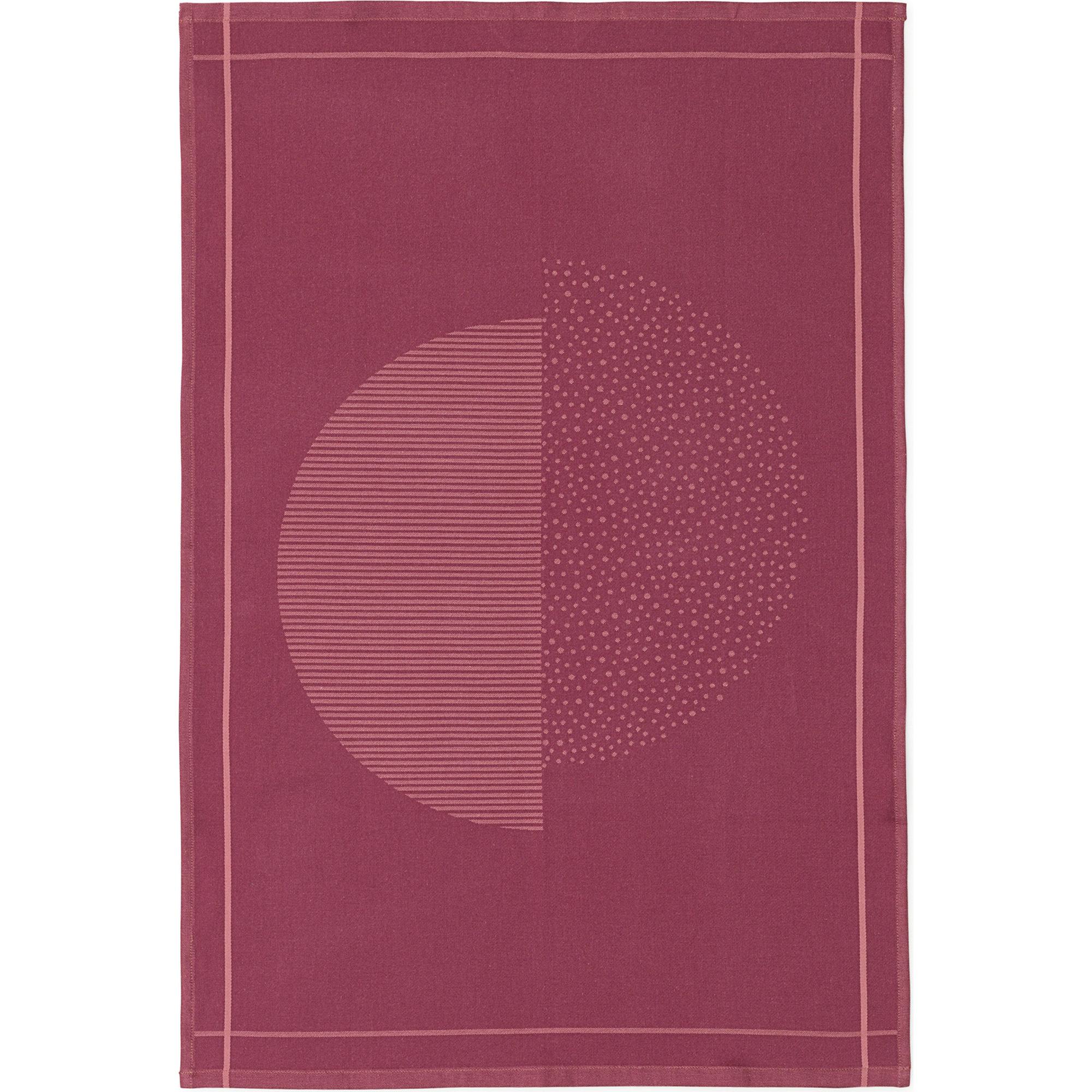 Normann Copenhagen Illusion Tea Towel Burgundy