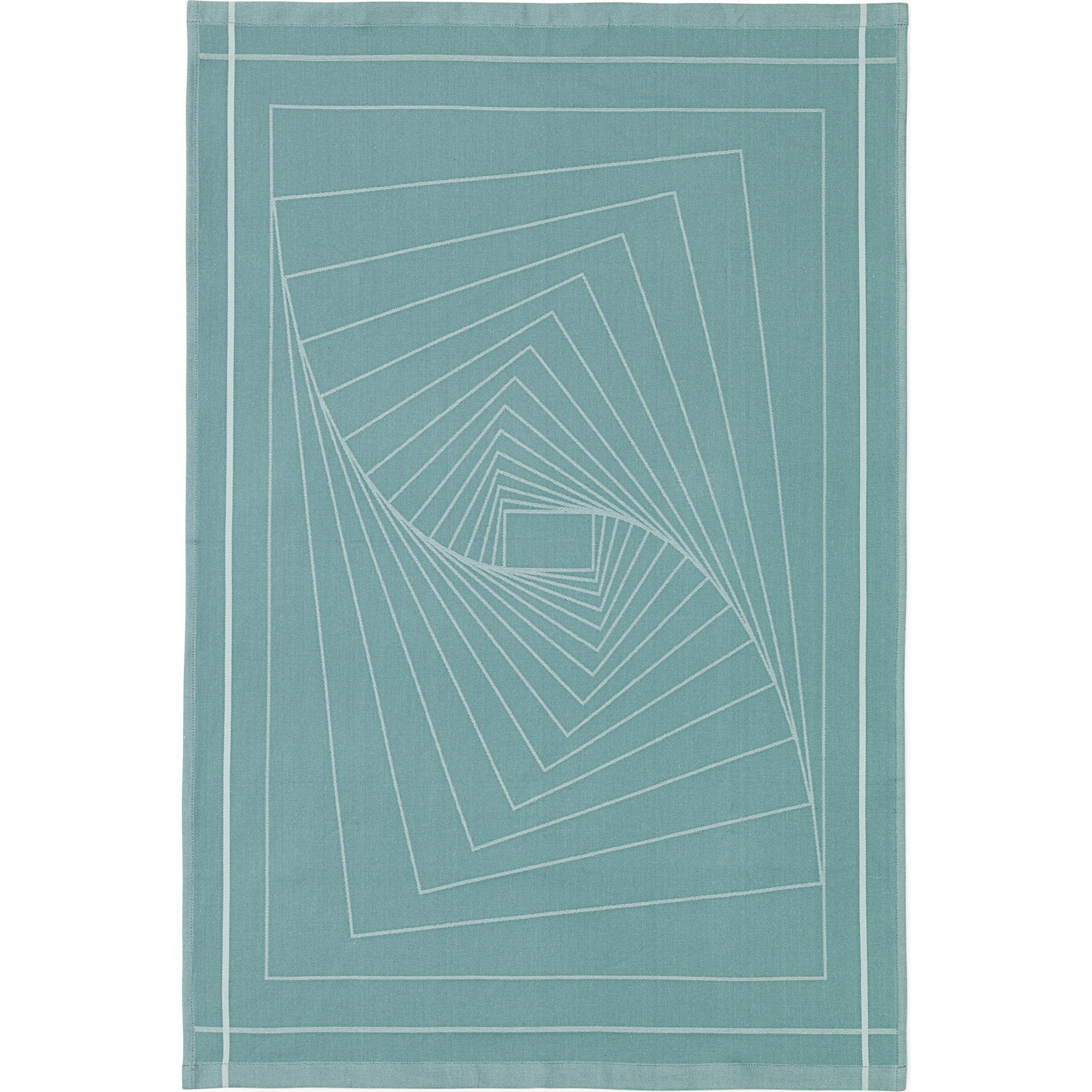 Normann Copenhagen Illusion Tea Towel Turquoise