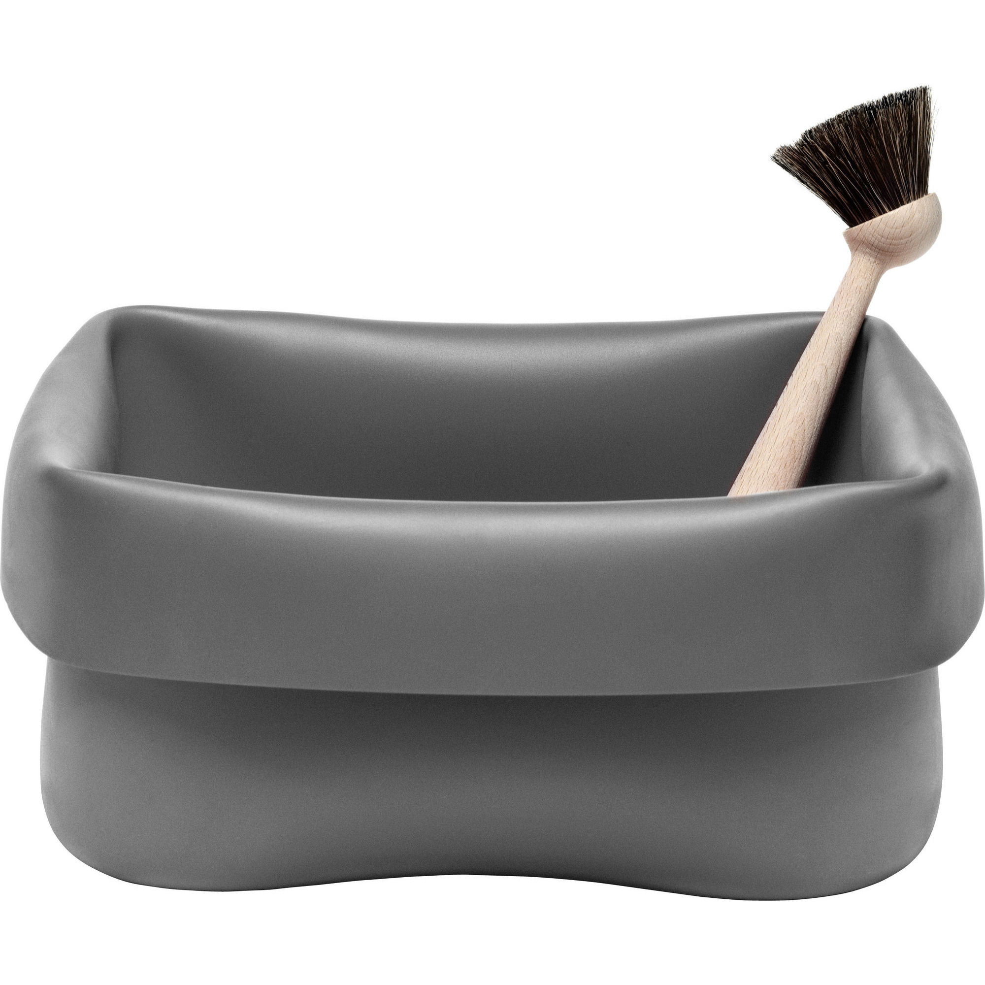 Normann Copenhagen Washing-up Bowl & Brush Grey