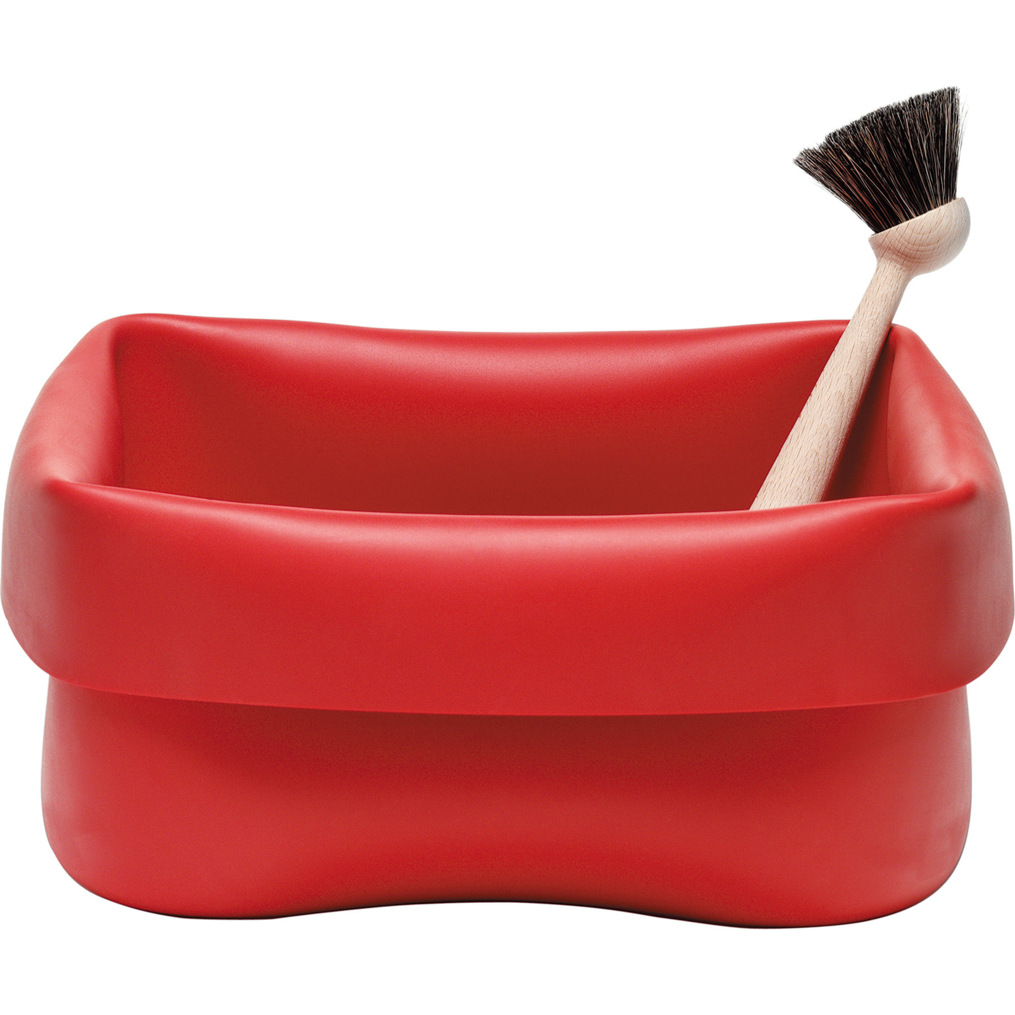 Normann Copenhagen Washing-up Bowl & Brush Red