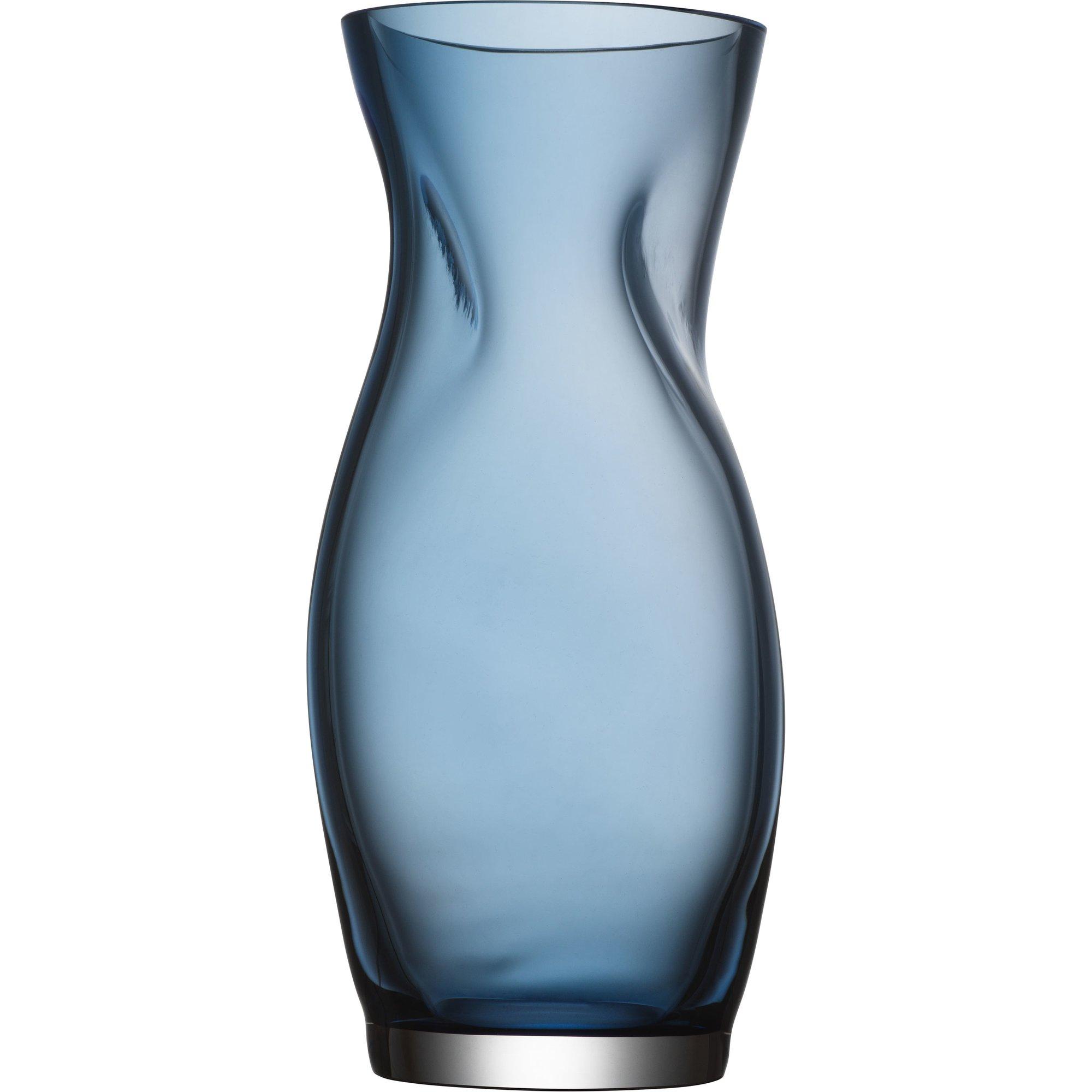 Orrefors Squeeze vas 23 cm blå
