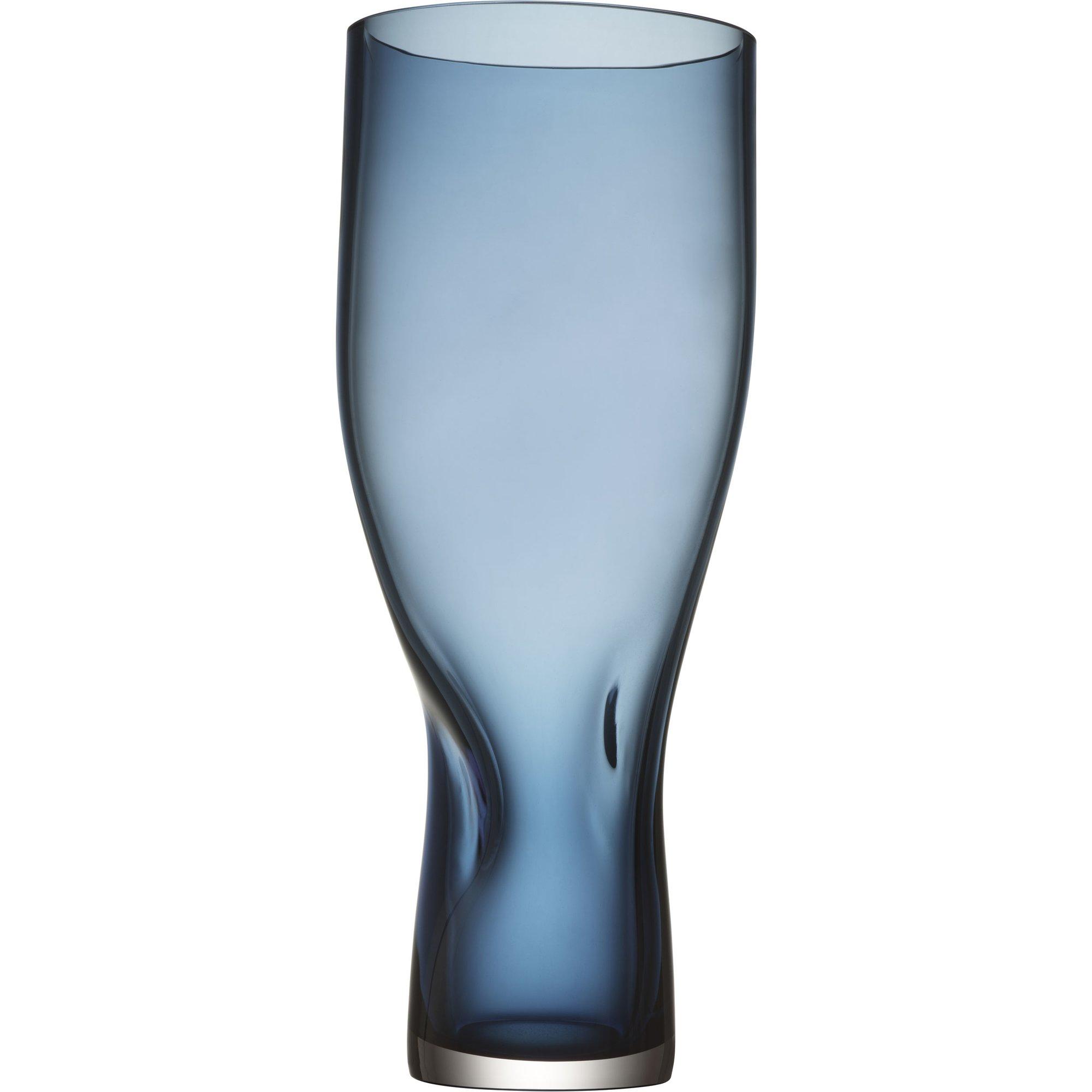 Orrefors Squeeze vas 34 cm blå