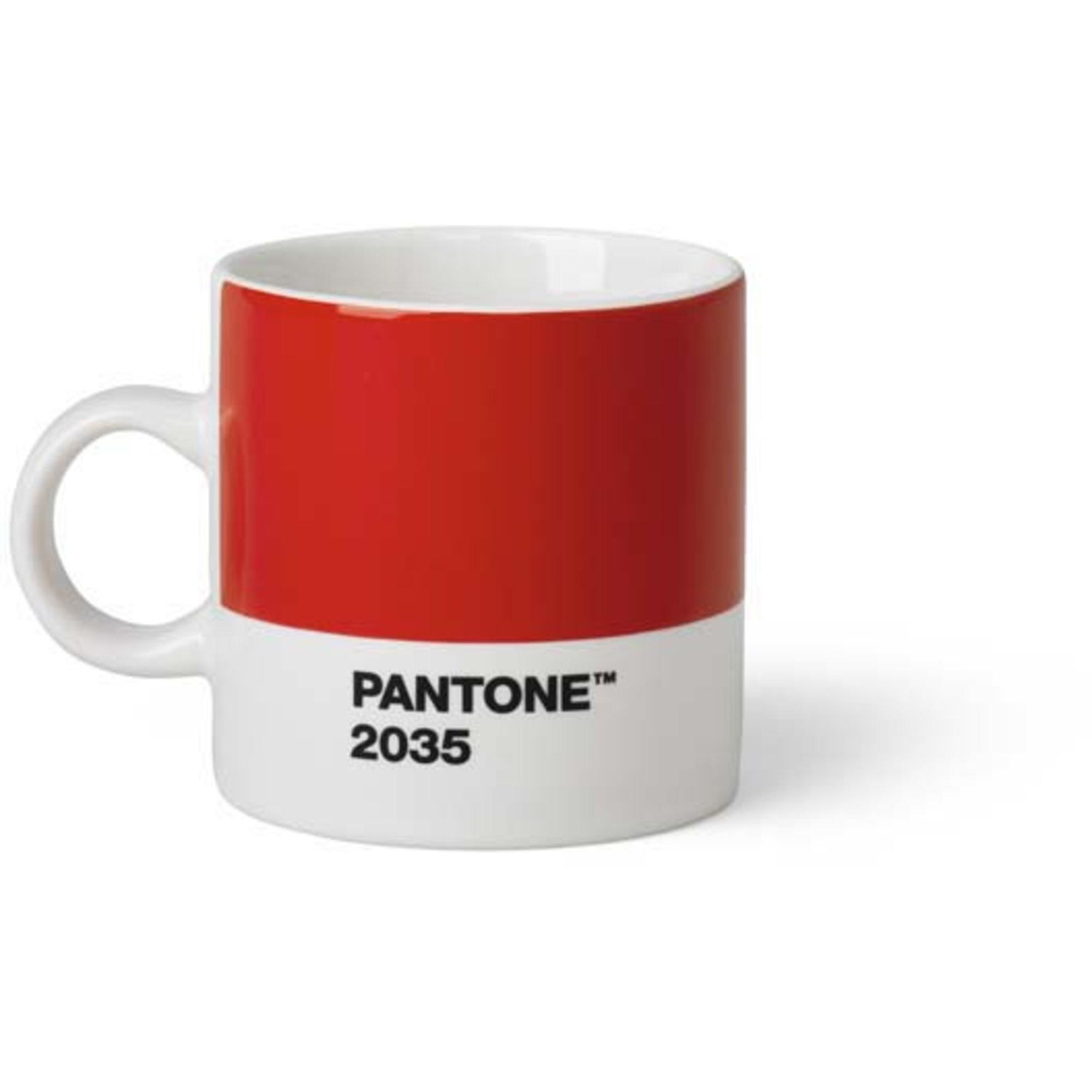 Pantone Living Espressokopp 12 cl Röd