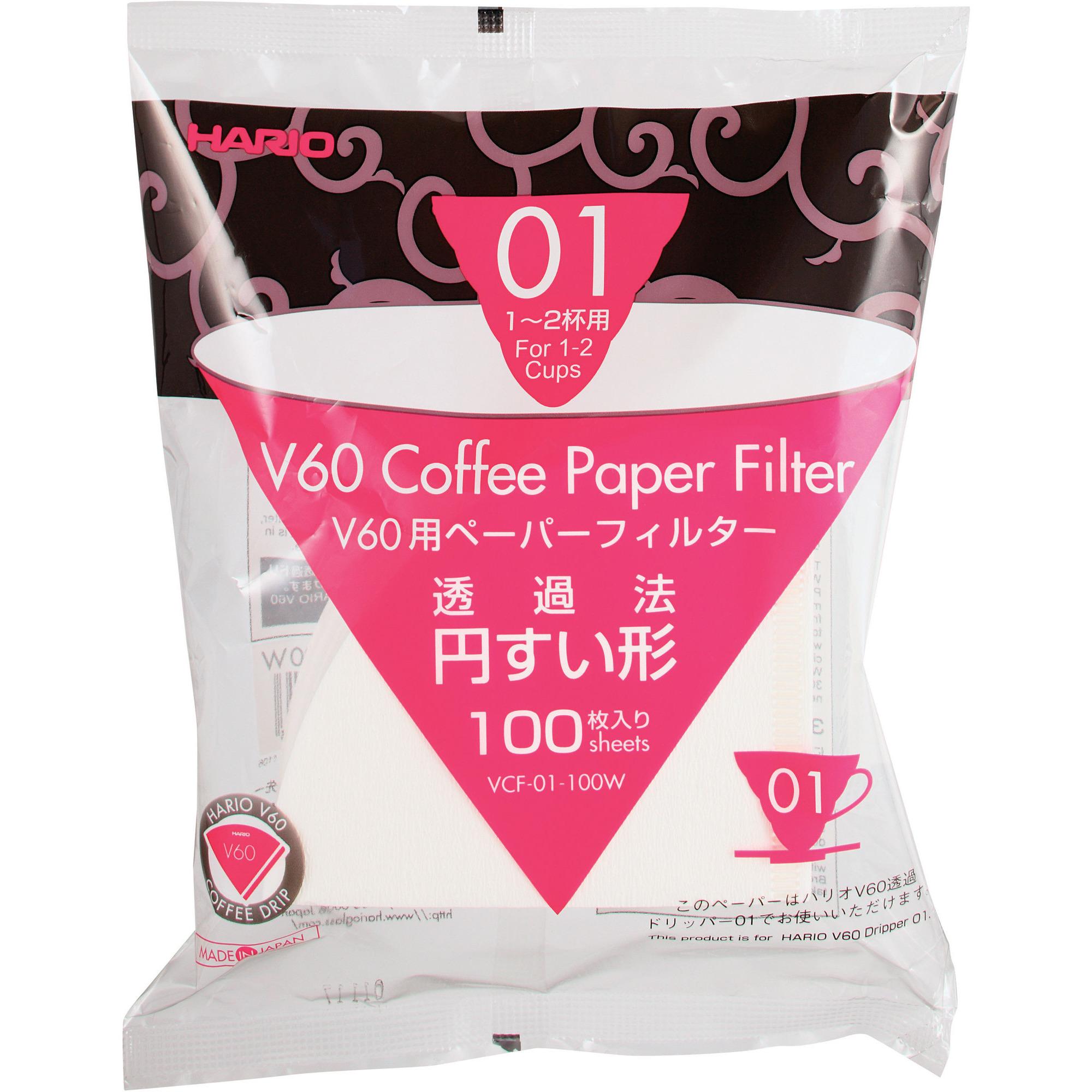 Hario V60 Pappersfilter 1 Koppar 100 st
