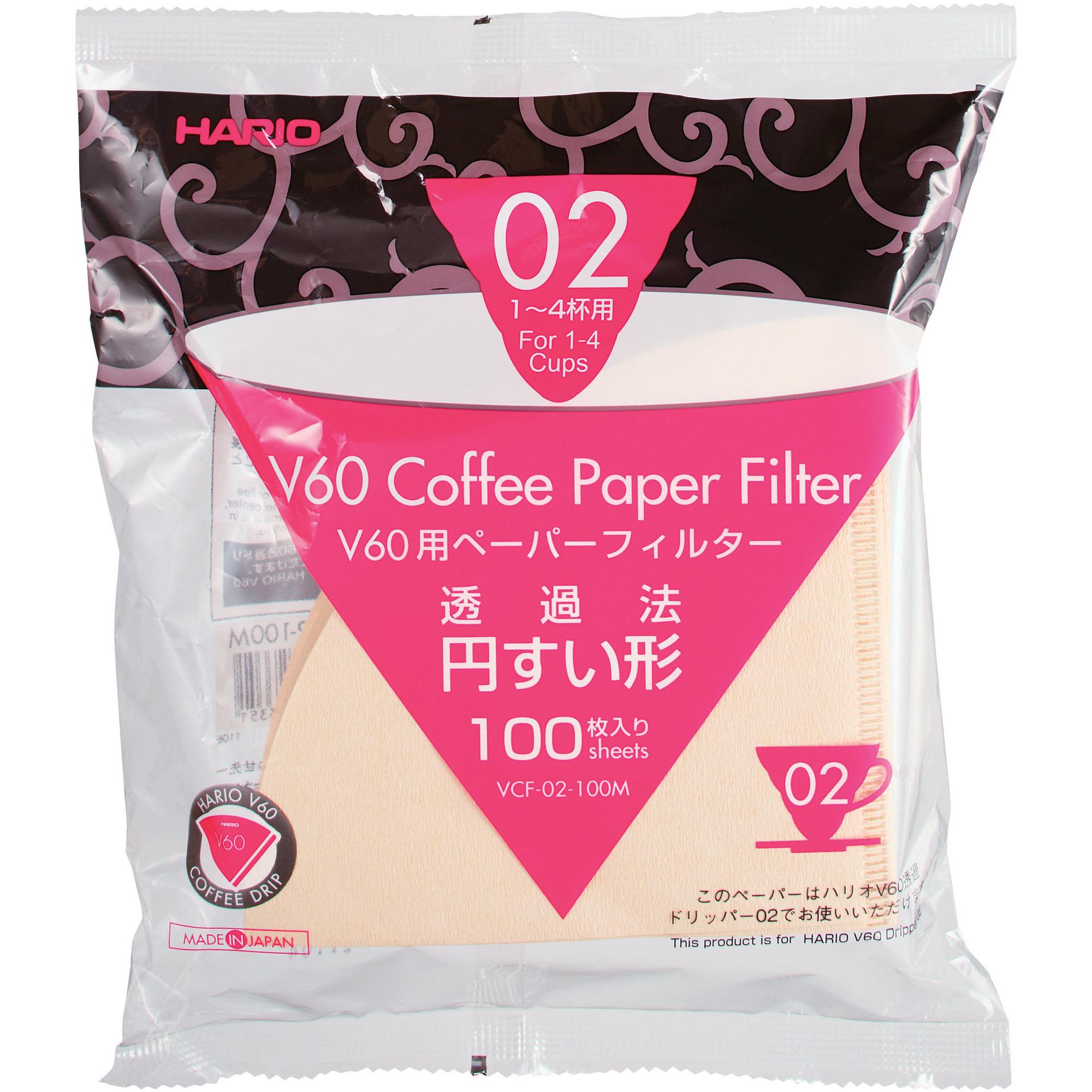 Hario Papir Filter 2 Cup 100 stk.