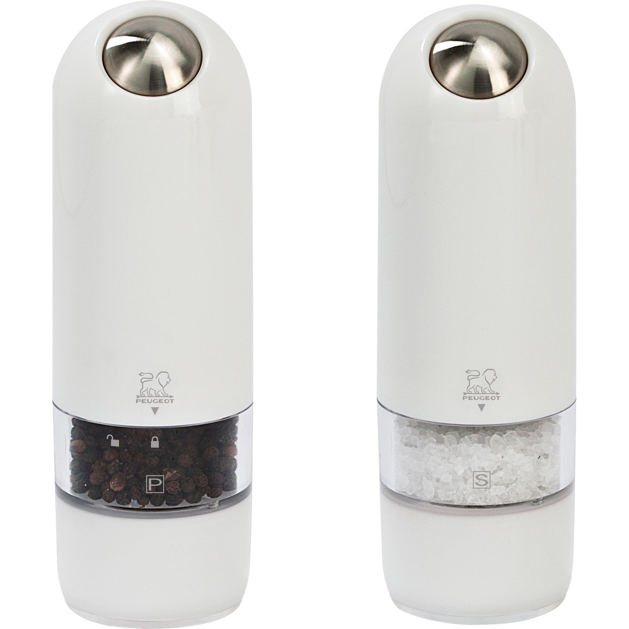 Peugeot Alaska Duo Elektrisk Salt- & Pepparkvarn 17 cm Vit