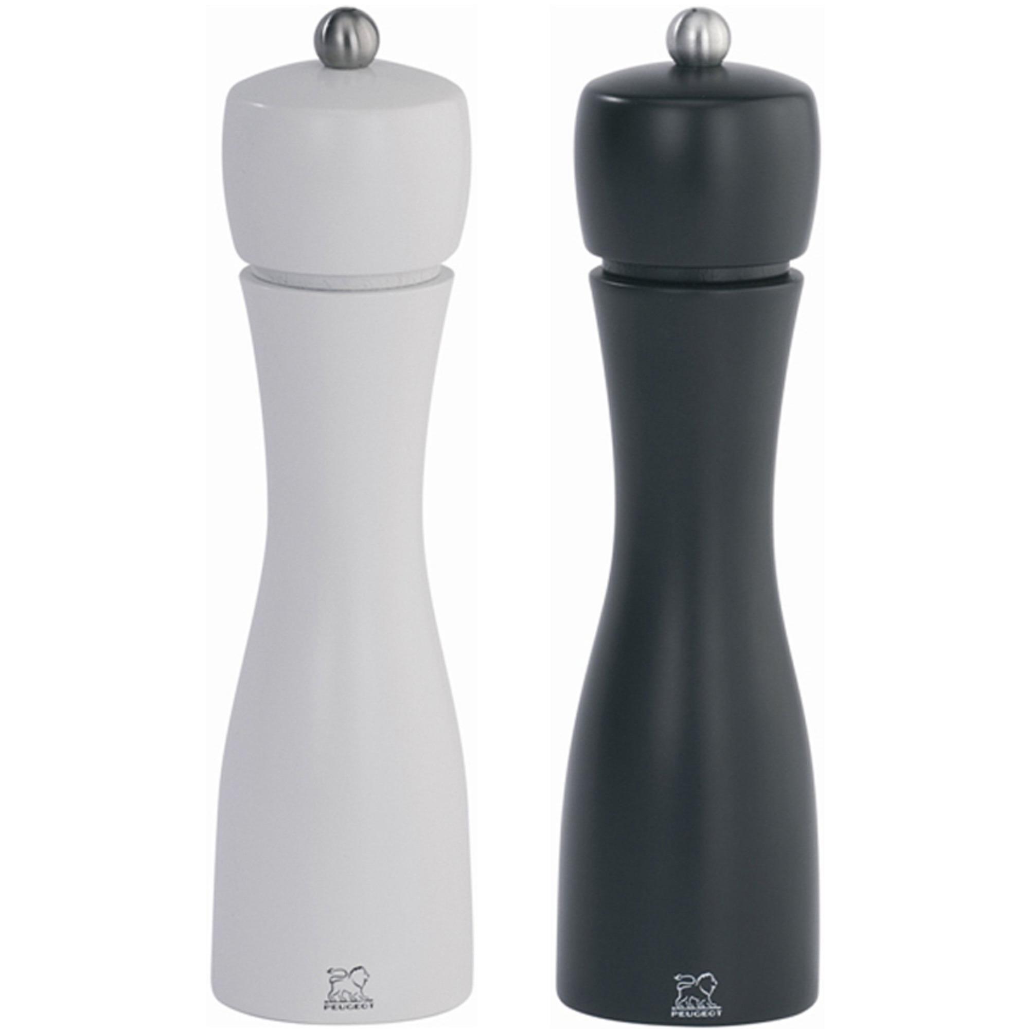 Peugeot Tahiti Duo Salt & Pepparkvarnar 20 cm Svart/Vit