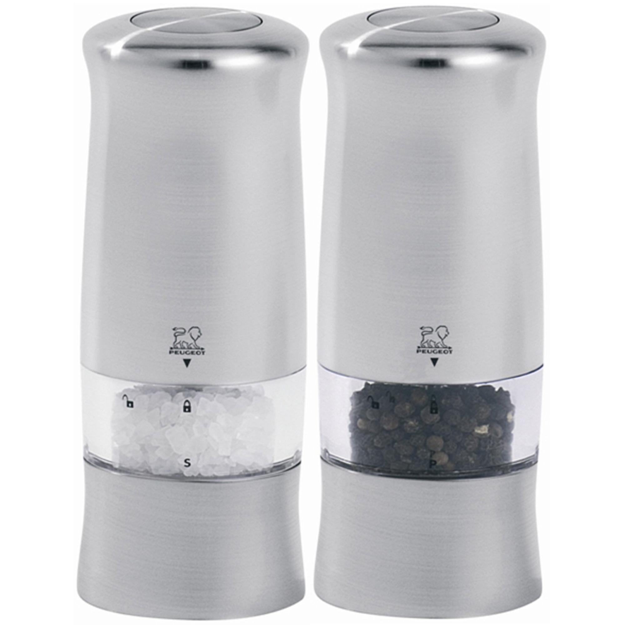 Peugeot Zeli Duo Elektriska Salt & Pepparkvarnar 14 cm Silver