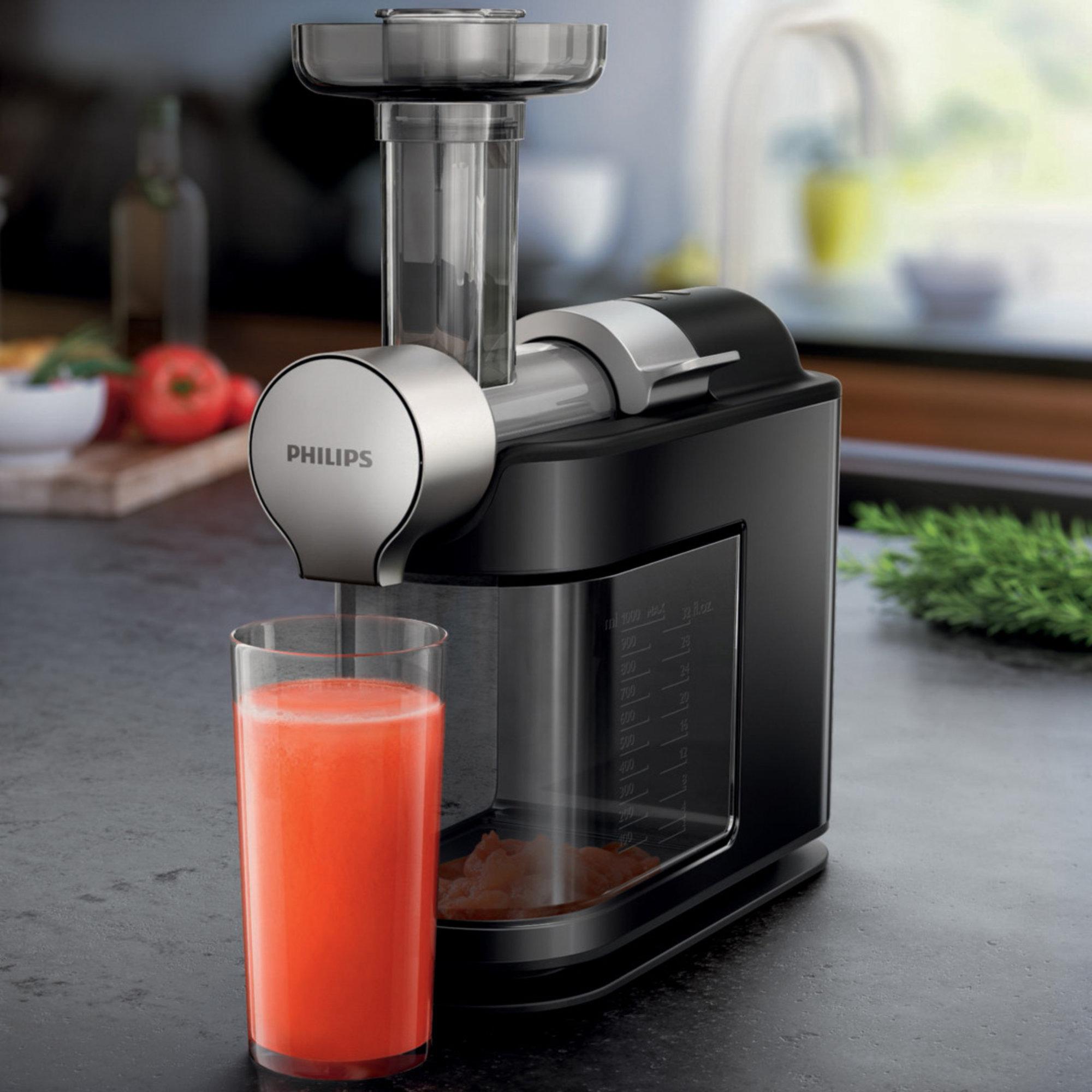 HR1896/70 Slow Juicer fra Philips Op til 90 % ud af frugterne