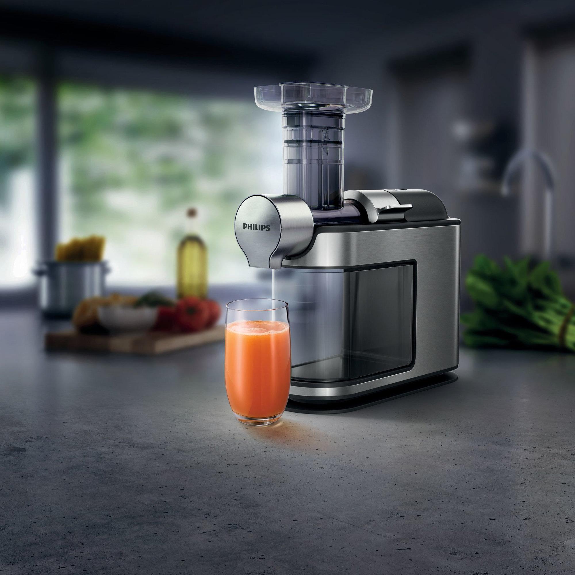 Slowjuicer Fra Wilfa : HR1949/20 Slowjuicer fra Philips Presser opp til 90% ut av frukten