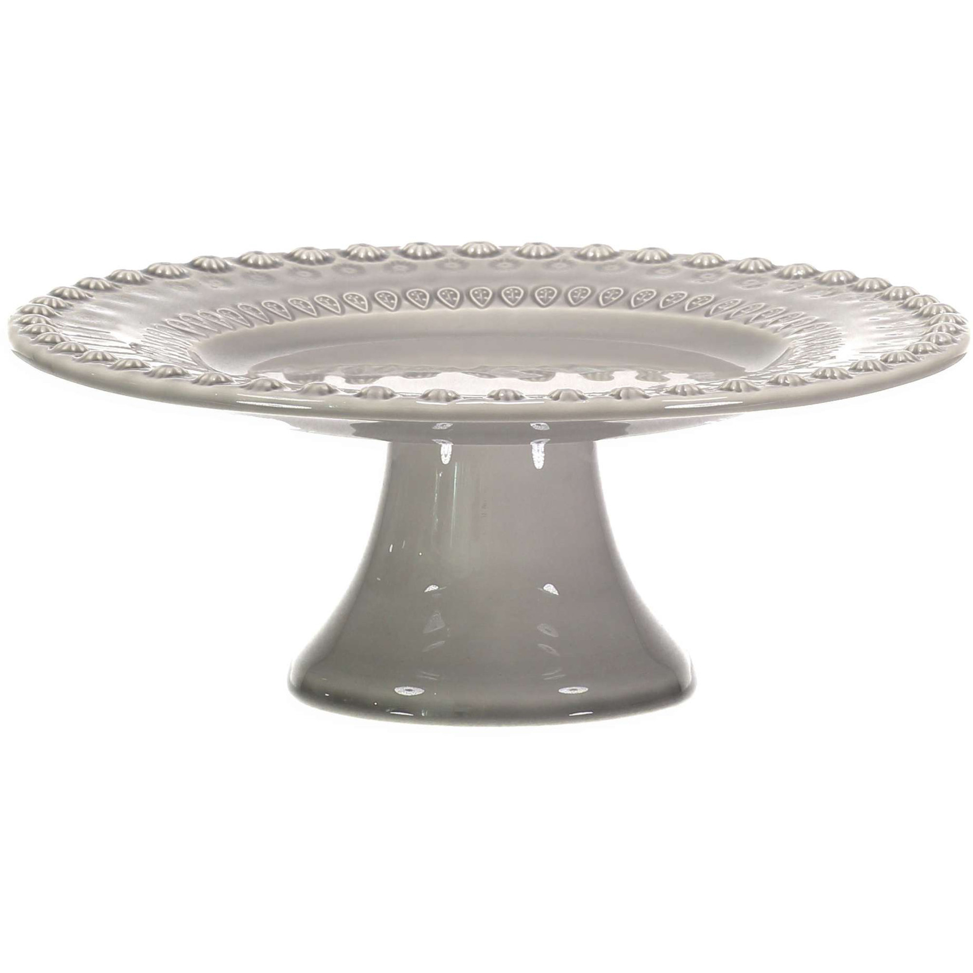 PotteryJo Daisy Tårtfat 22 cm Soft Grey