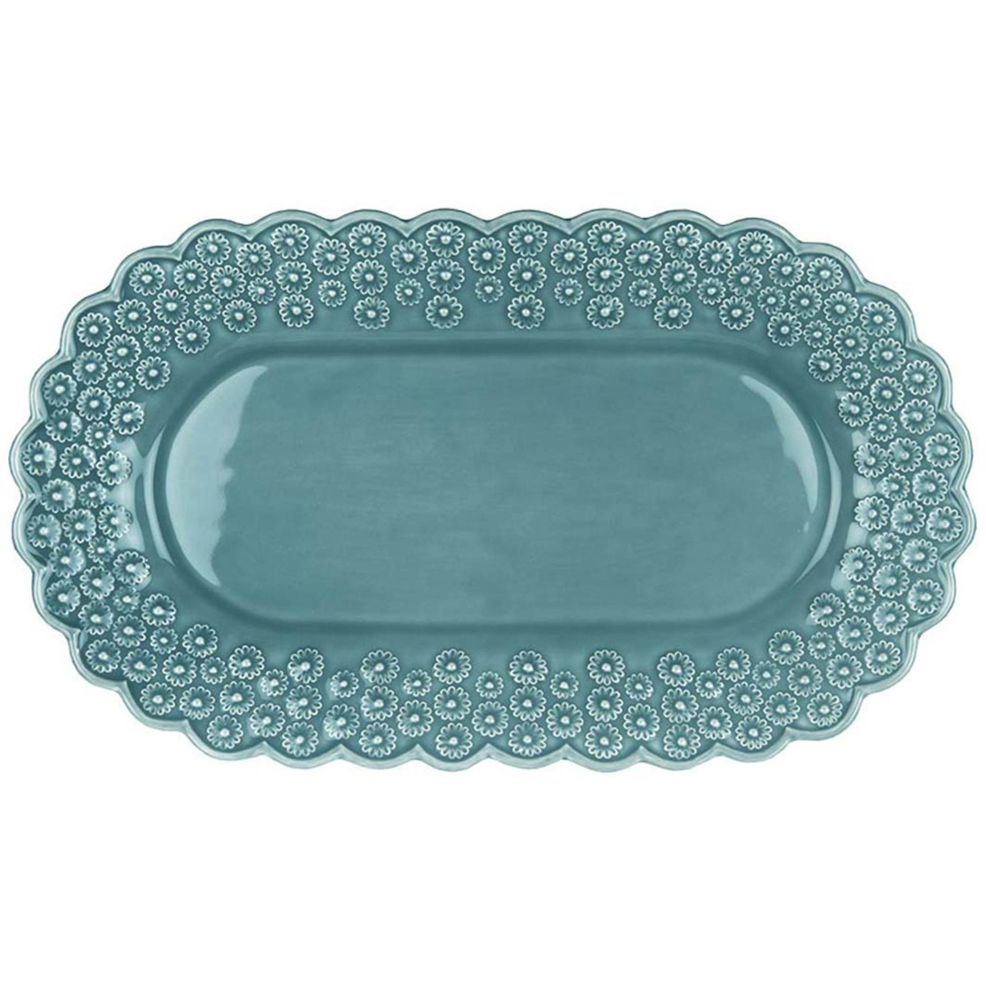 PotteryJo Ditsy Ovalt Uppläggningsfat Turquoise