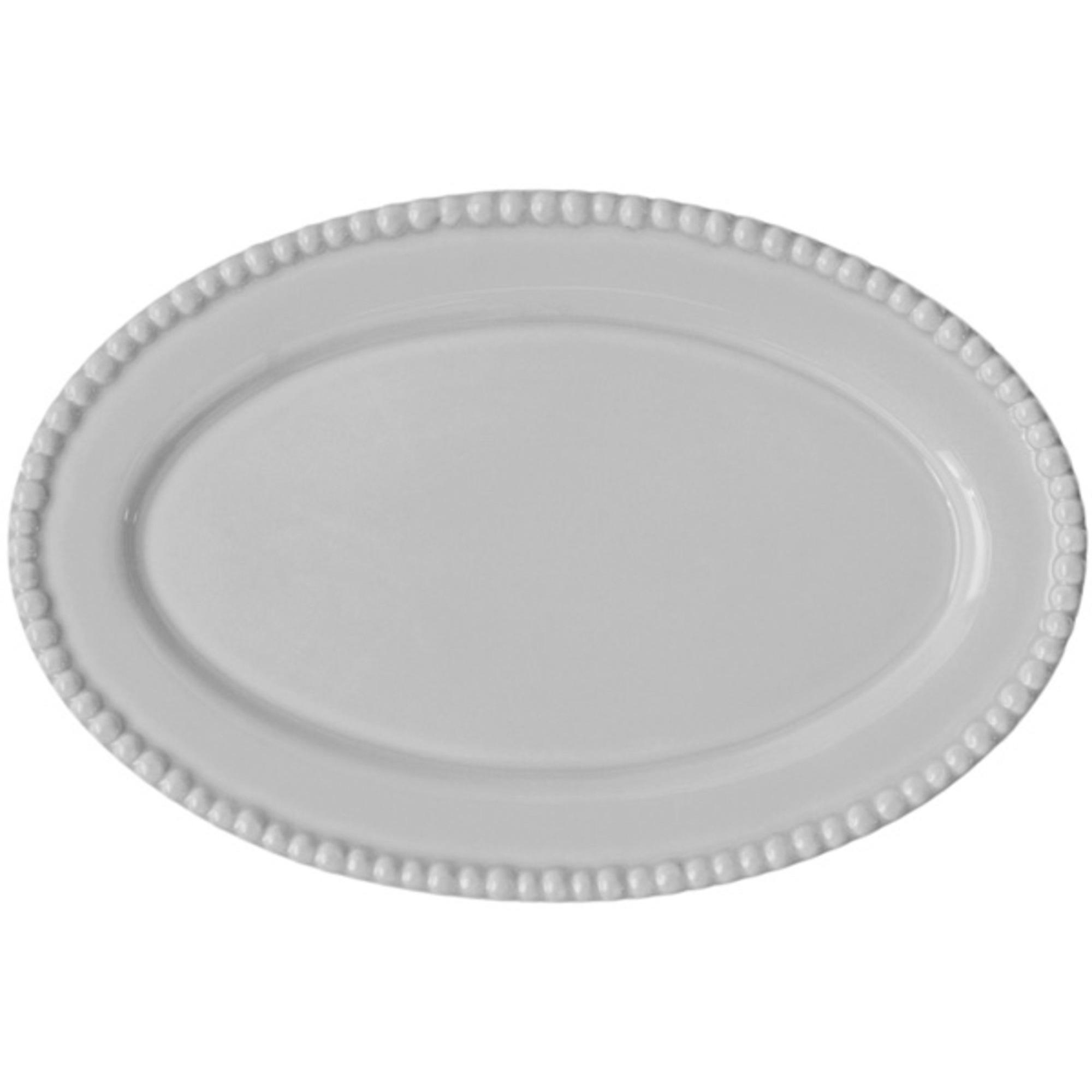 PotteryJo Ovalt Uppläggningsfat 35 cm White