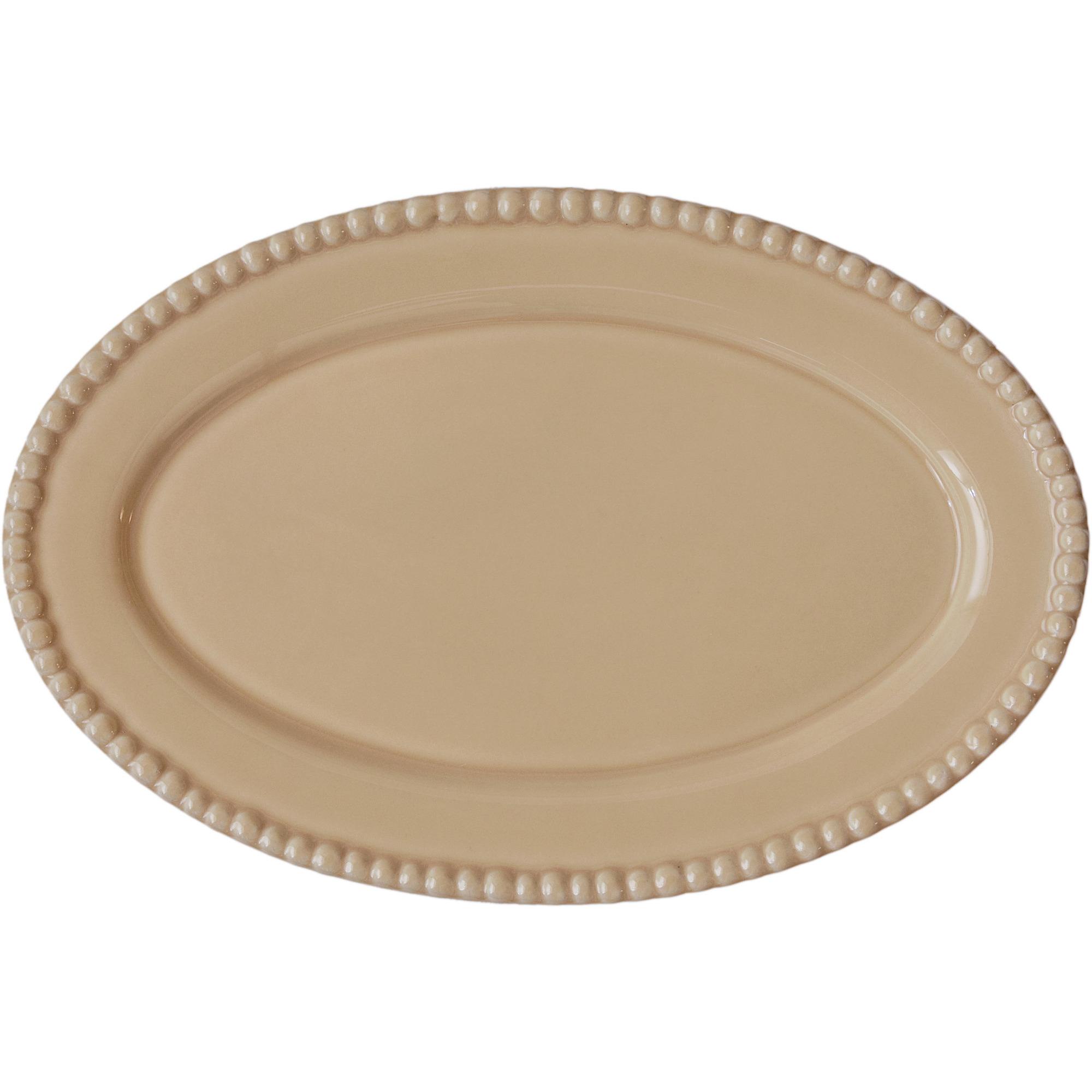 PotteryJo Ovalt Uppläggningsfat 35 cm Honey