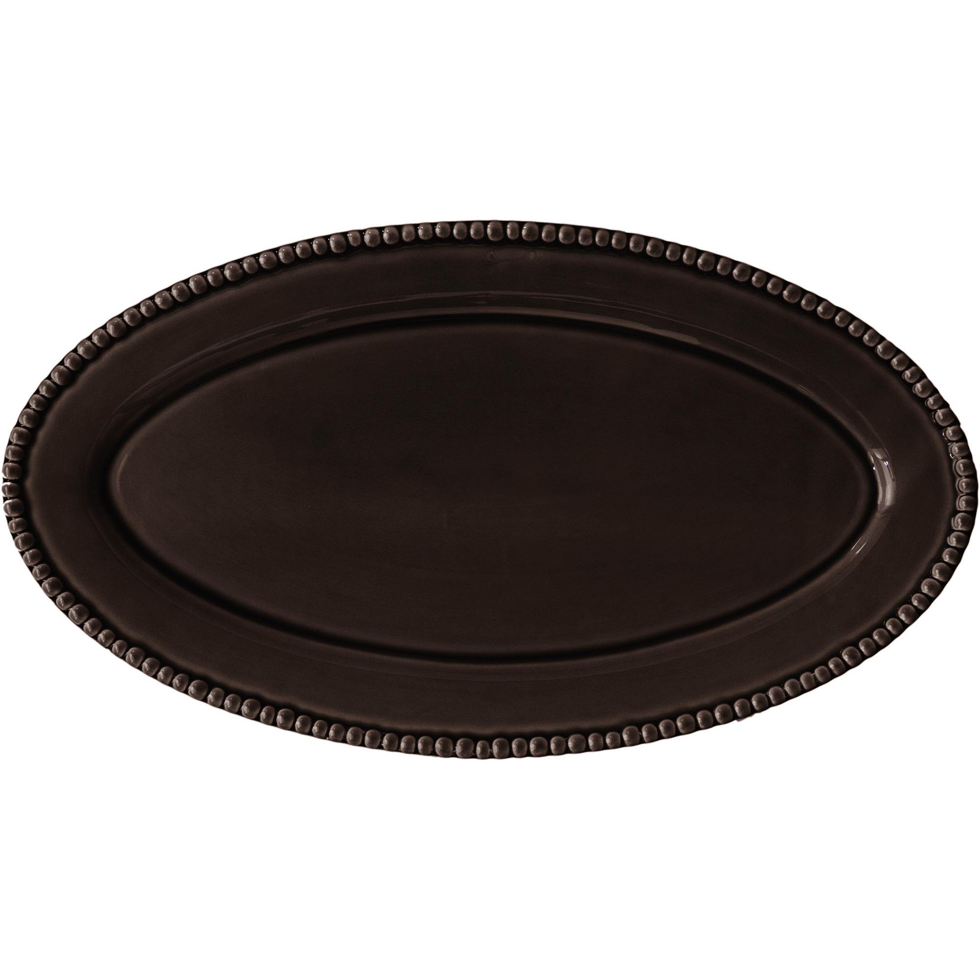 PotteryJo Ovalt Uppläggningsfat 50 cm Java Brown