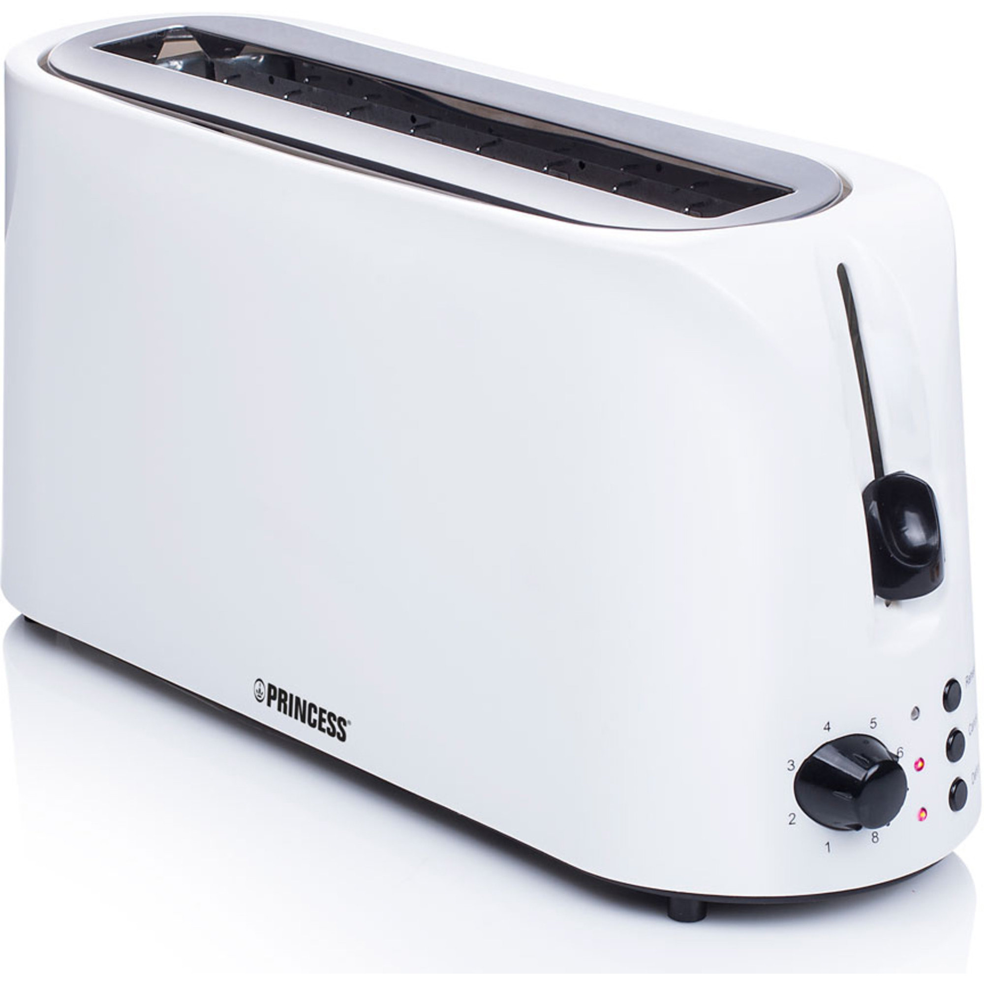 Princess Brödrost Long Slot Toaster Cool White