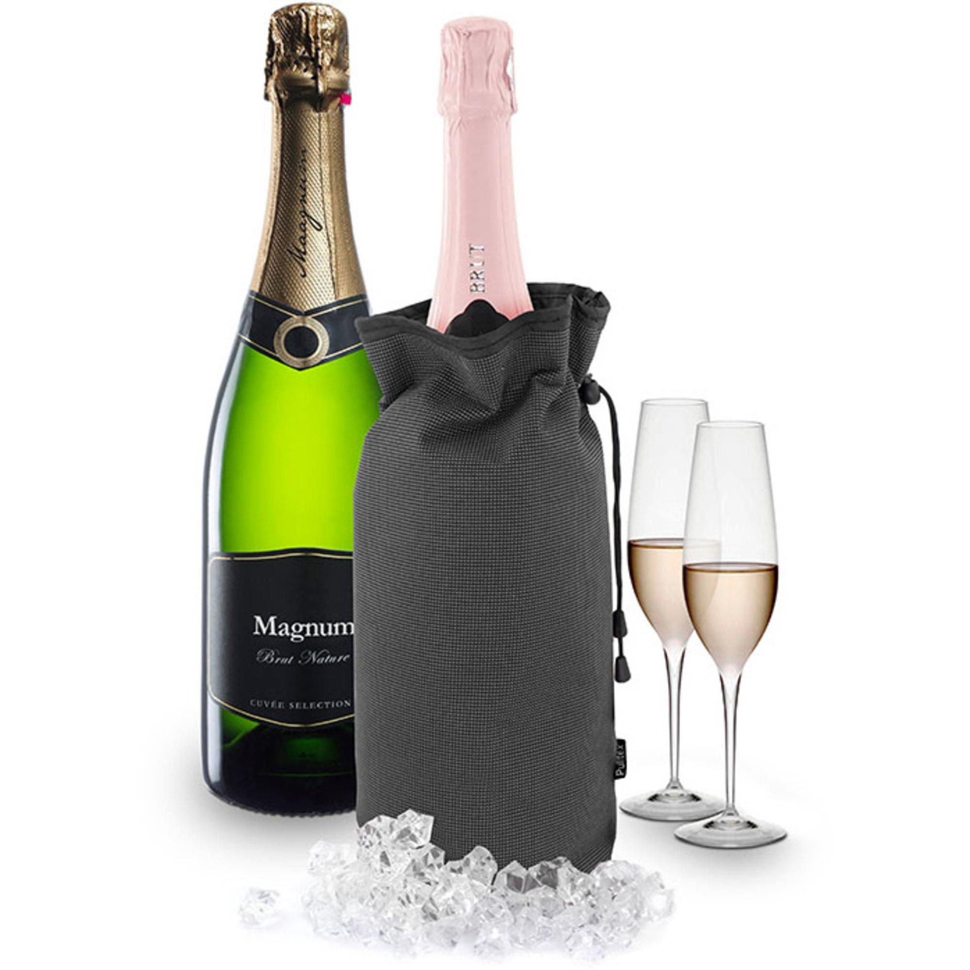 Pulltex Champagnekylare för magnumflaskor grå