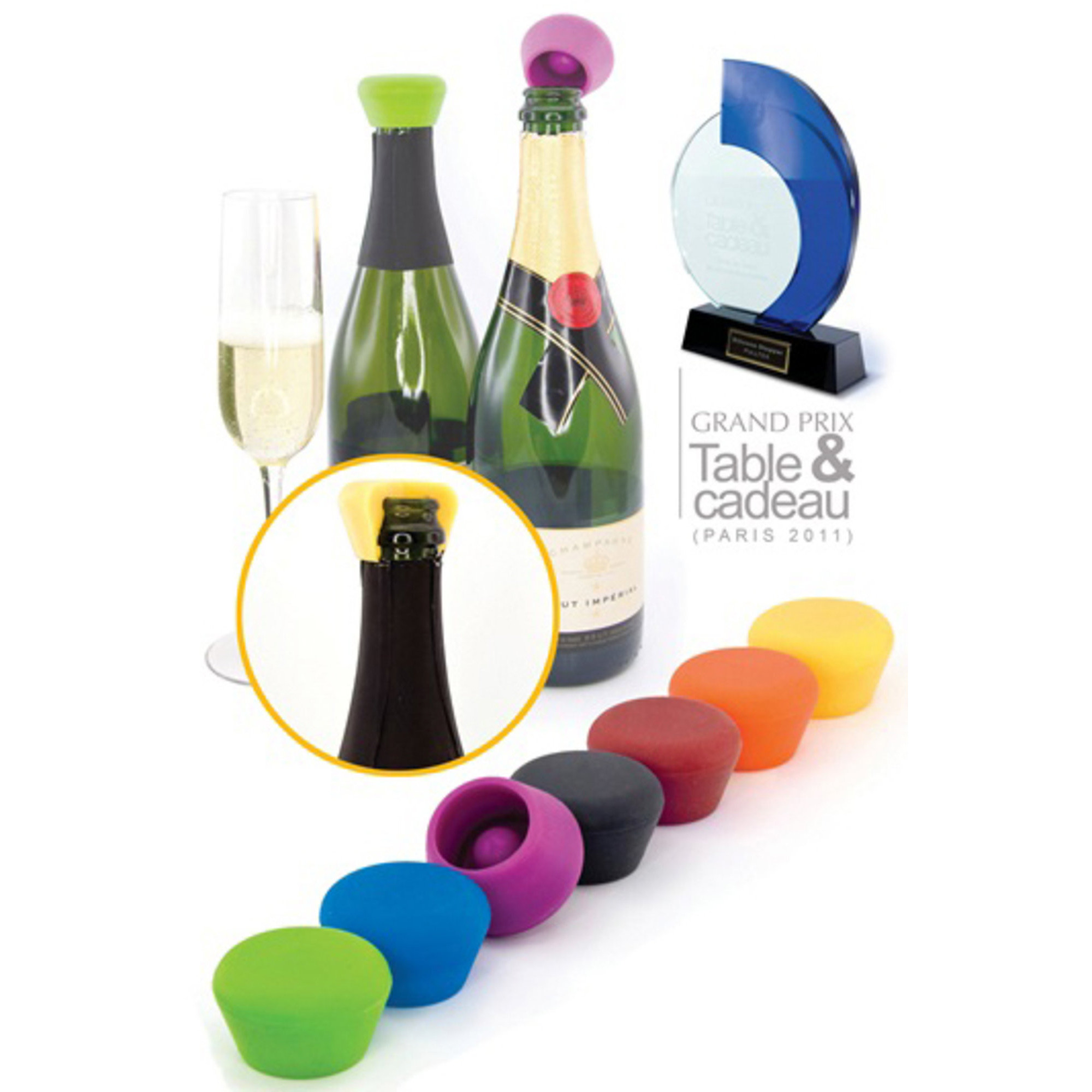 Pulltex Champagnestoppers Silikone 2-pack