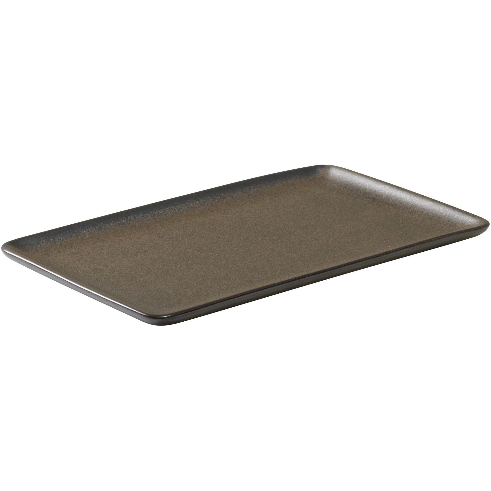 Aida RAW rektangulär tallrik metallisk brun 23,5 cm.