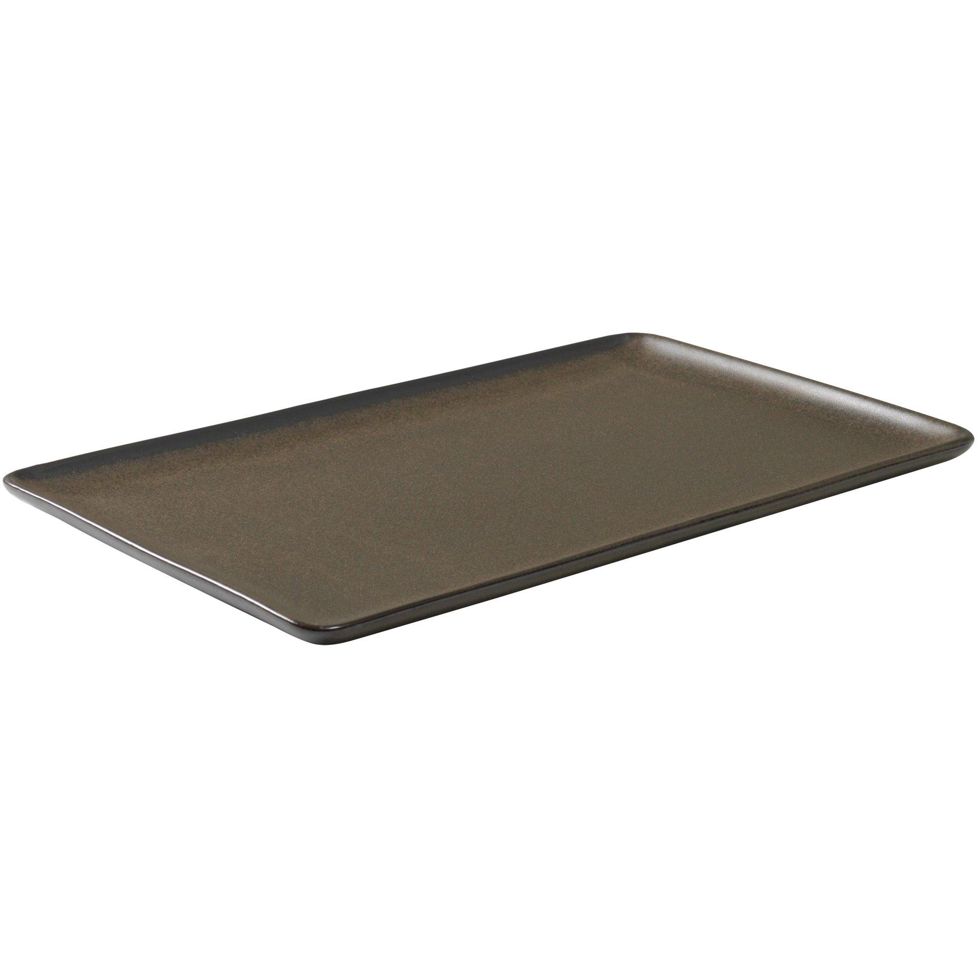 Aida RAW rektangulär tallrik metallisk brun 315 cm.