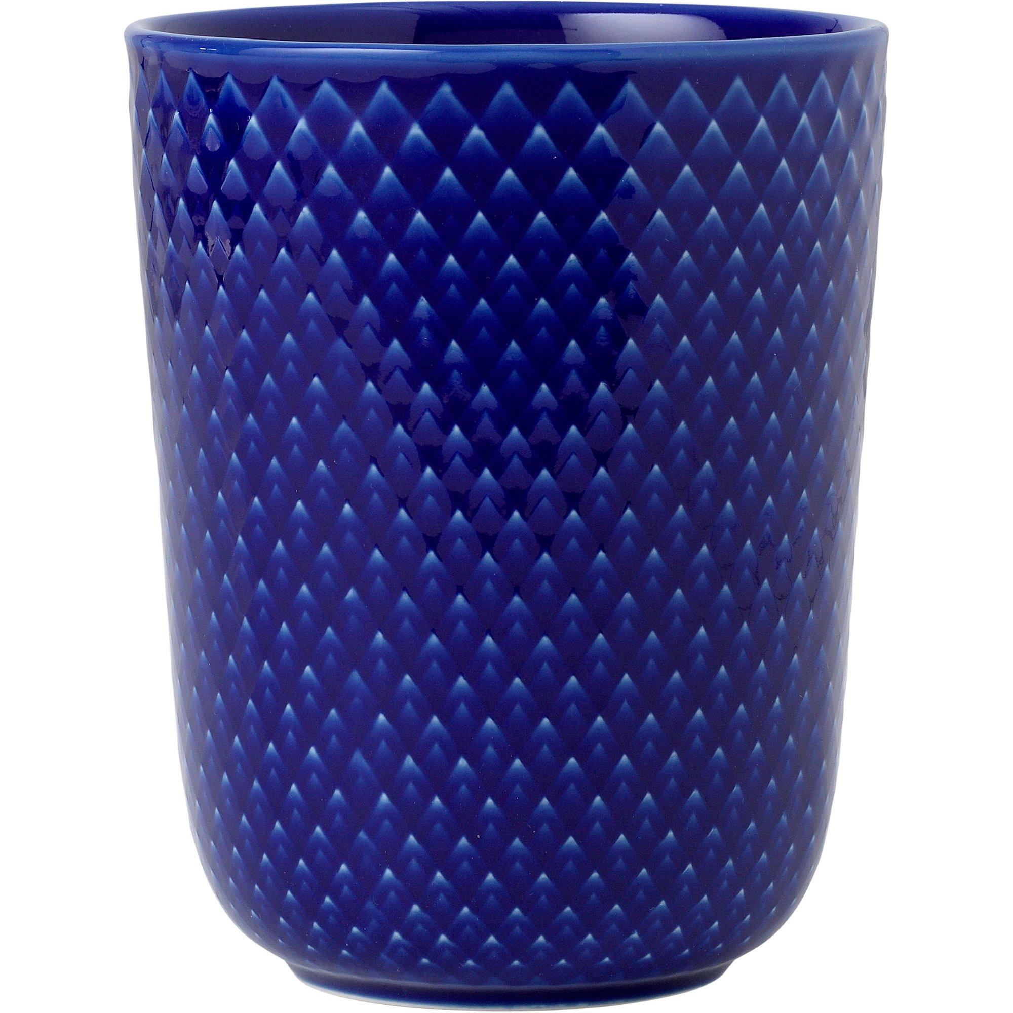 Lyngby Porcelæn Rhombe Mugg 33 cl Mörkblå