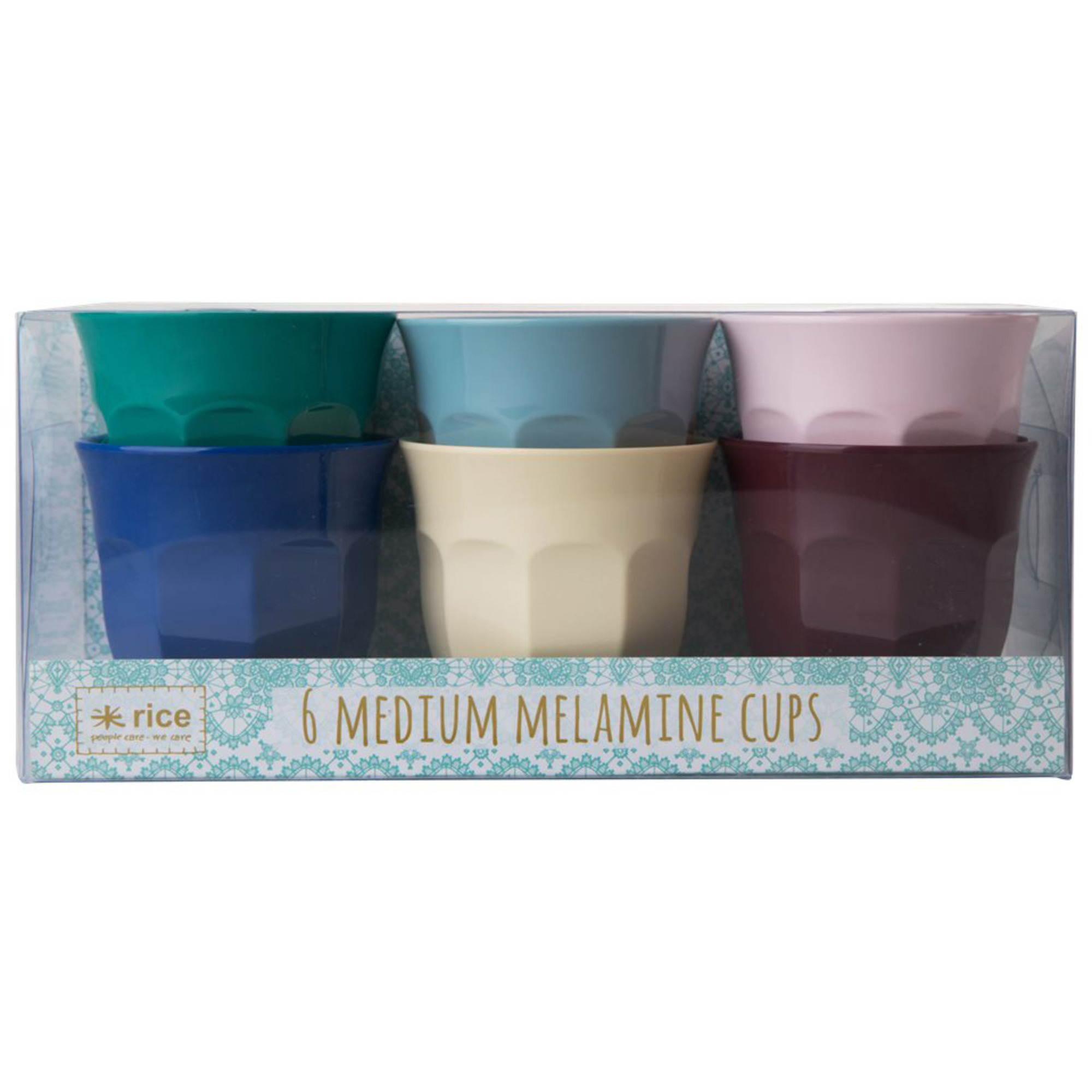 Rice 6-pack Medium Melaminmuggar Urban Colors
