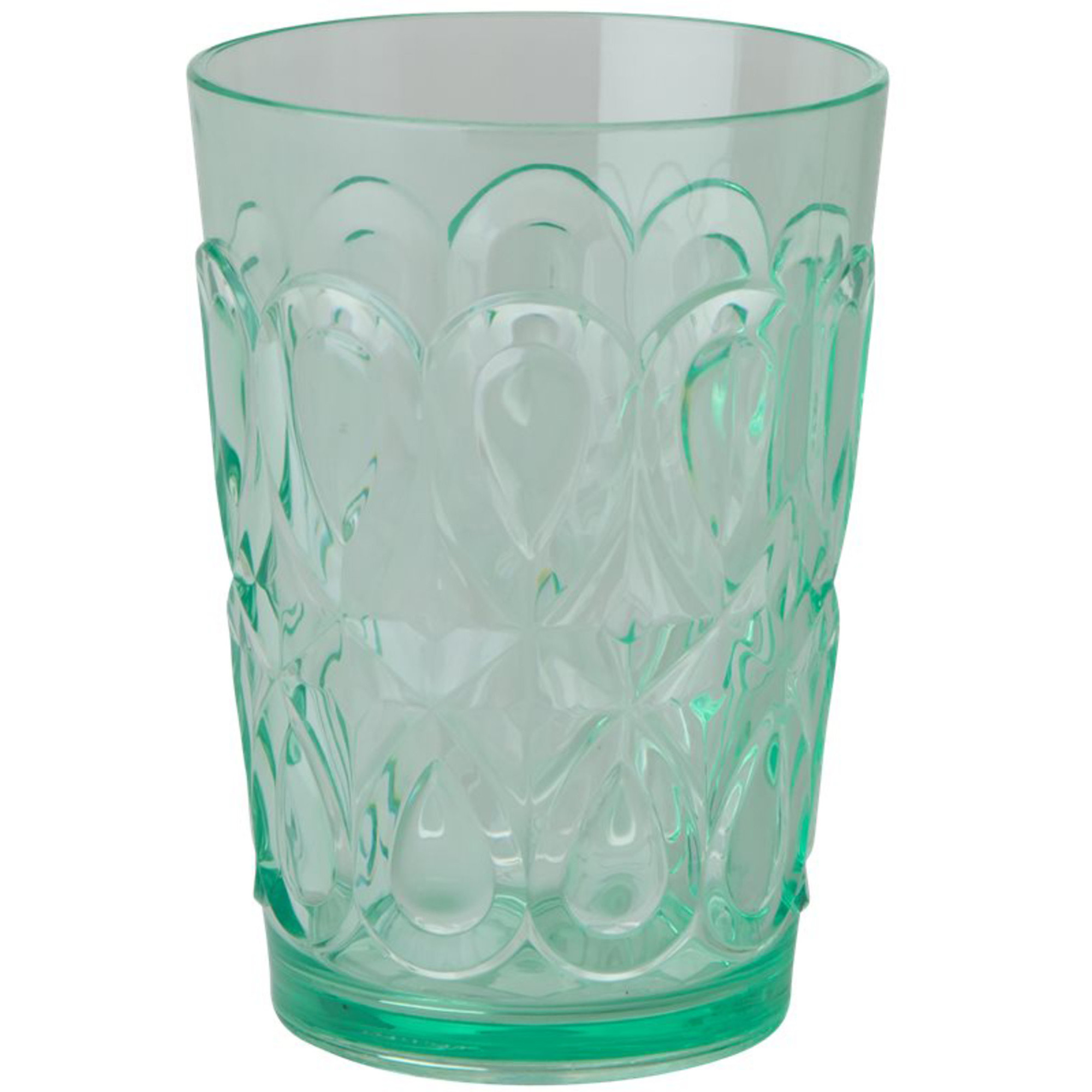Rice Swirly Embossed Tumbler Pastellgrön