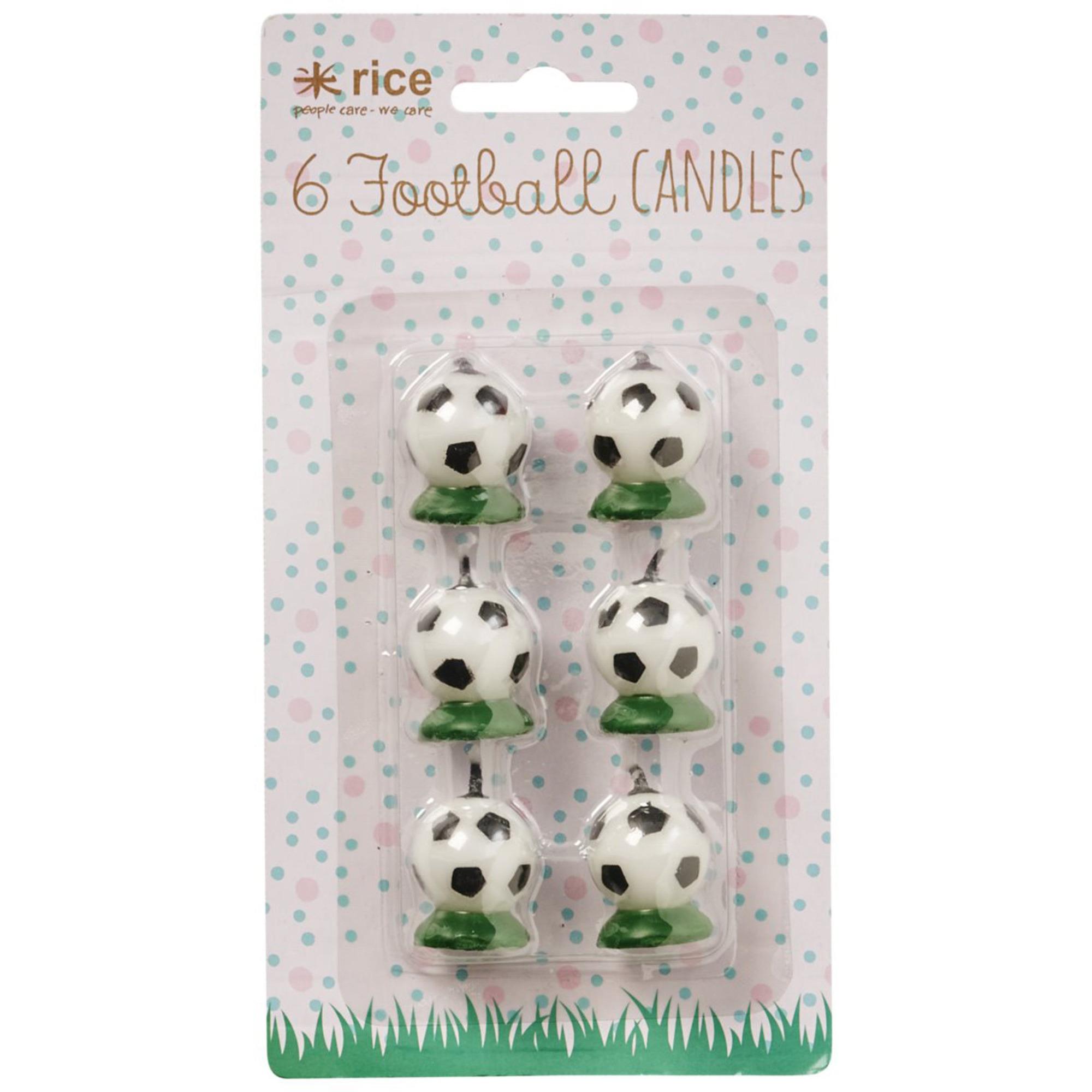 Rice Tårtljus 6 st Fotbollar