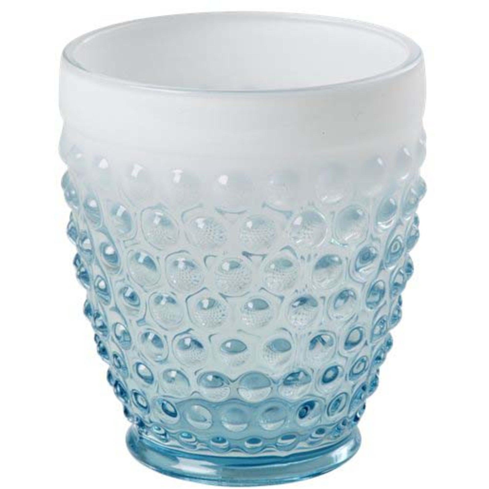 Rice Glas Bubblor Turkos/Vit