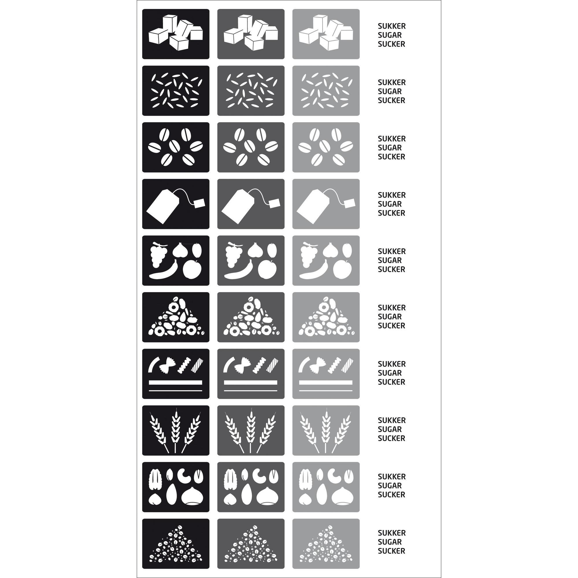 RIG-TIG Etiketter till förvaringsboxar