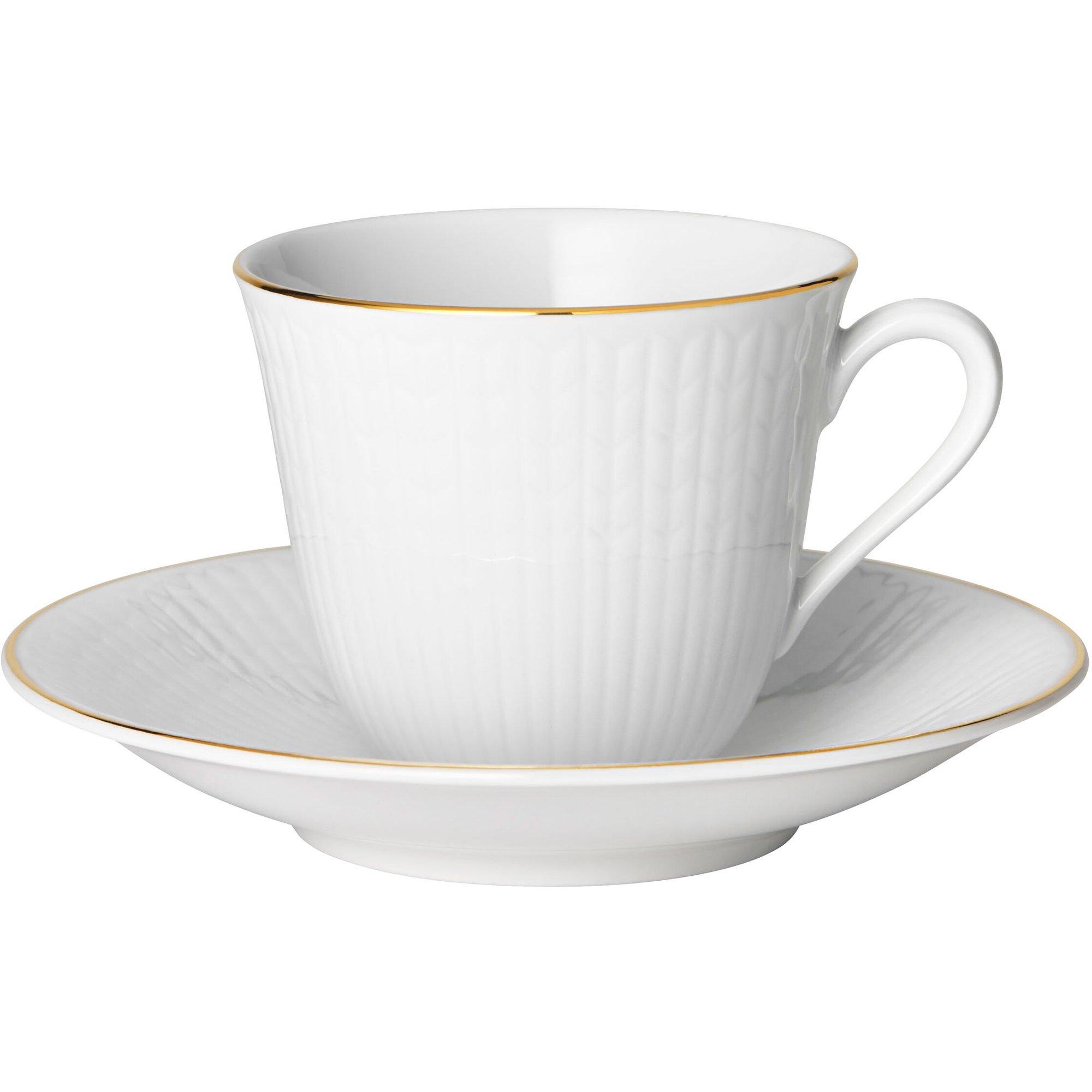 Rörstrand Swedish Grace Gala kaffekopp med fat