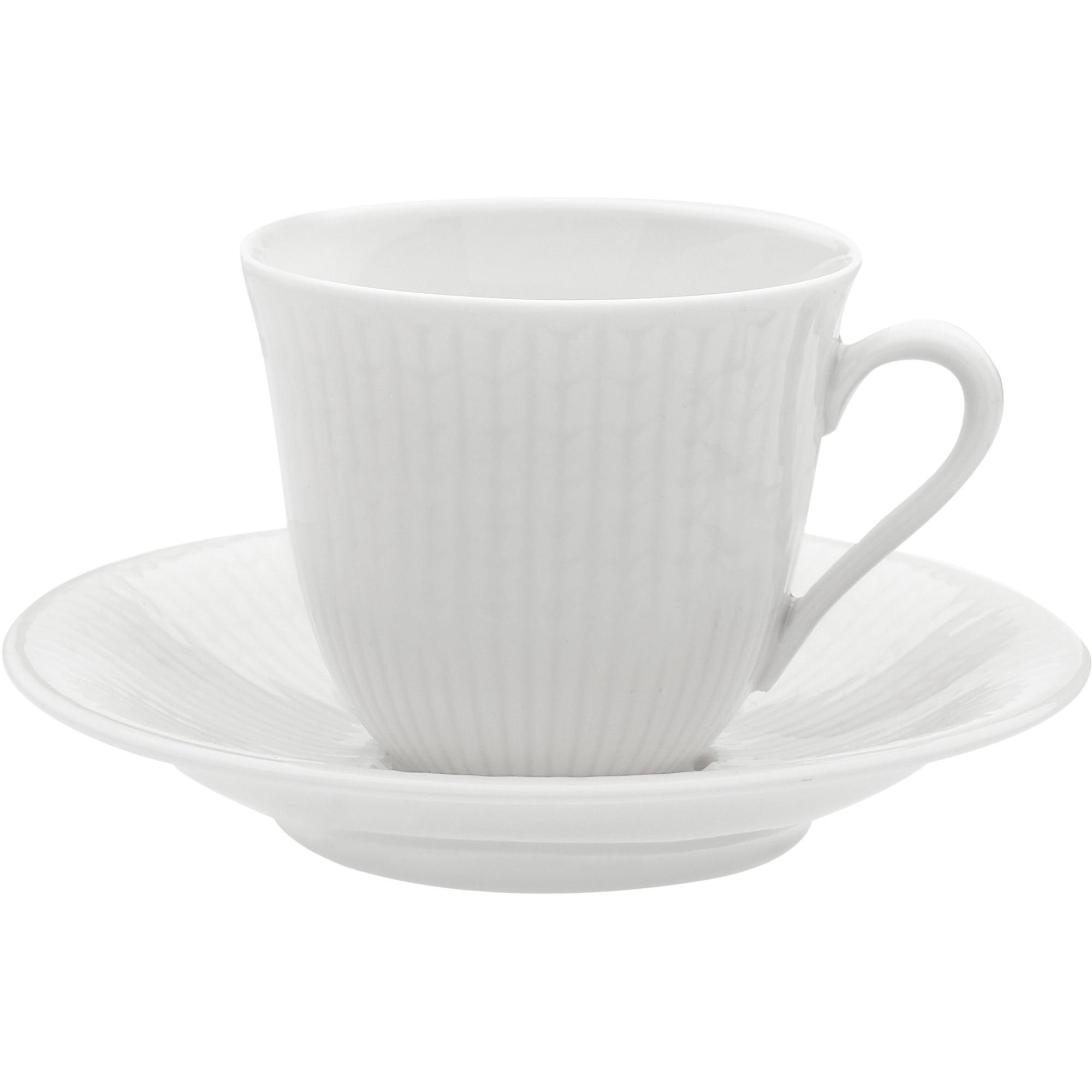 Rörstrand Swedish Grace Snö Fat till Kaffekopp 16cl