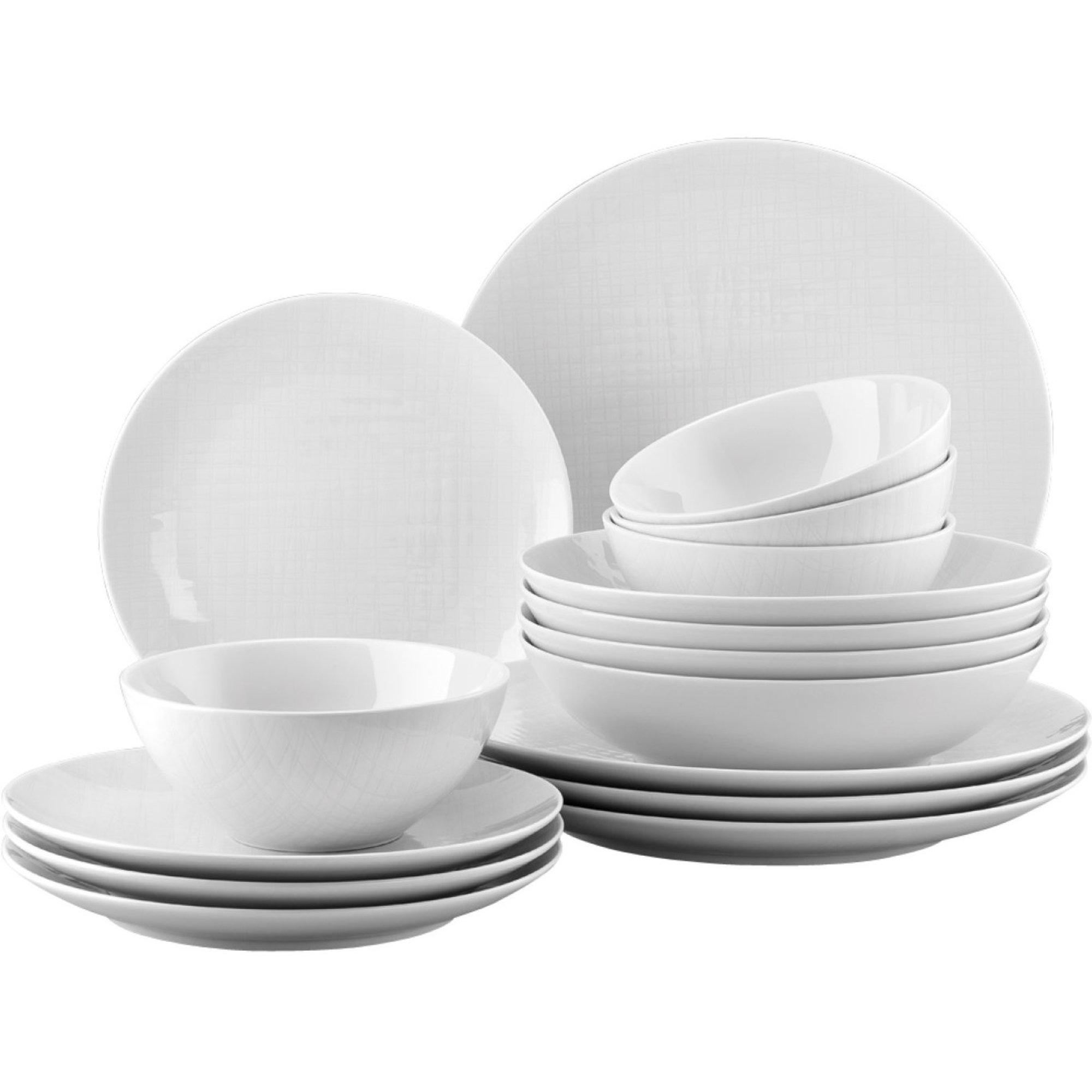 Rosenthal Mesh Vit 16 delar Middagsset med Frukostskålar