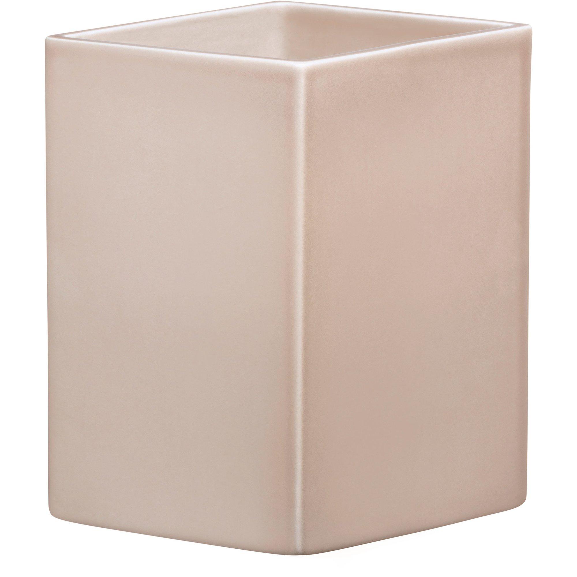 Iittala Ruutu keramik vas 225 cm. Beige