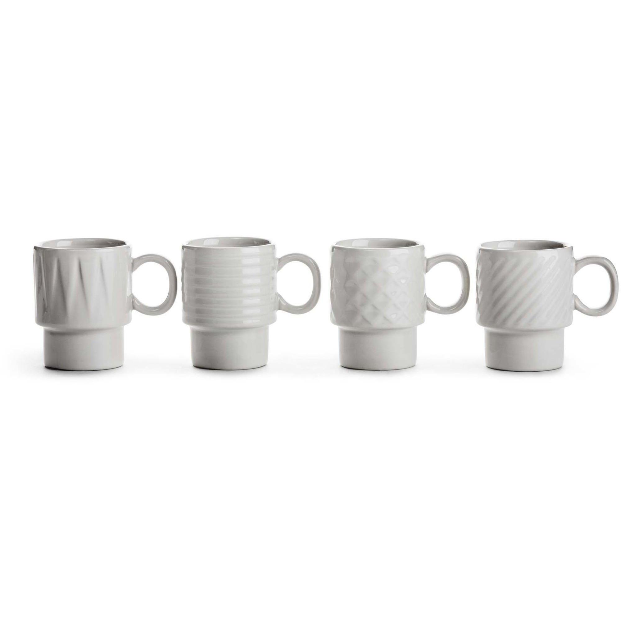 Sagaform Coffee & More espressomugg vit 4-pack