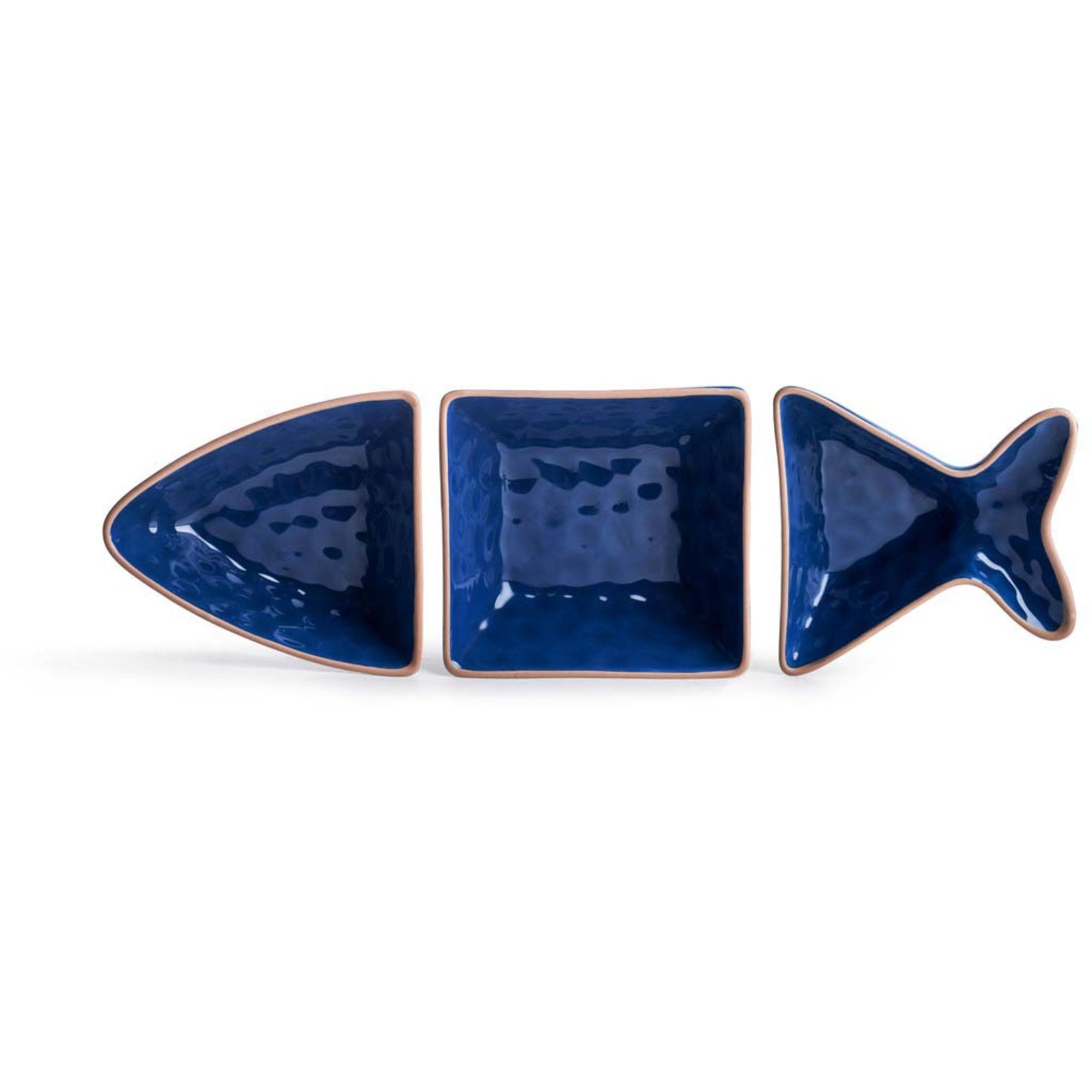 Sagaform Fish Servingsskål 3 delar Blå