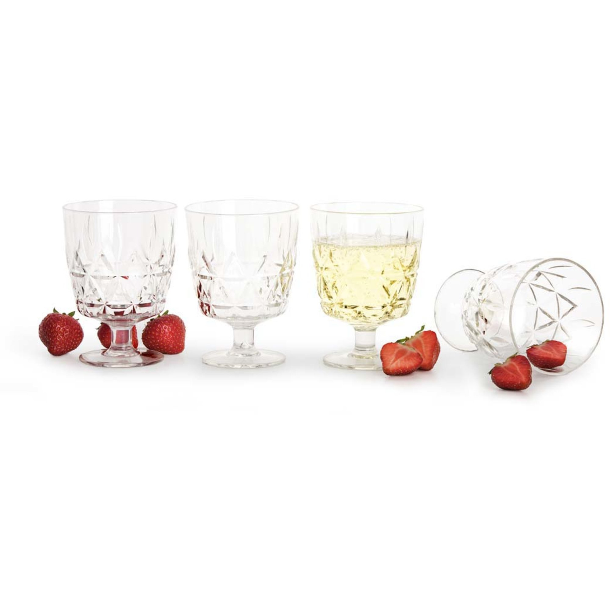 Sagaform Picknick Glas 4-pack
