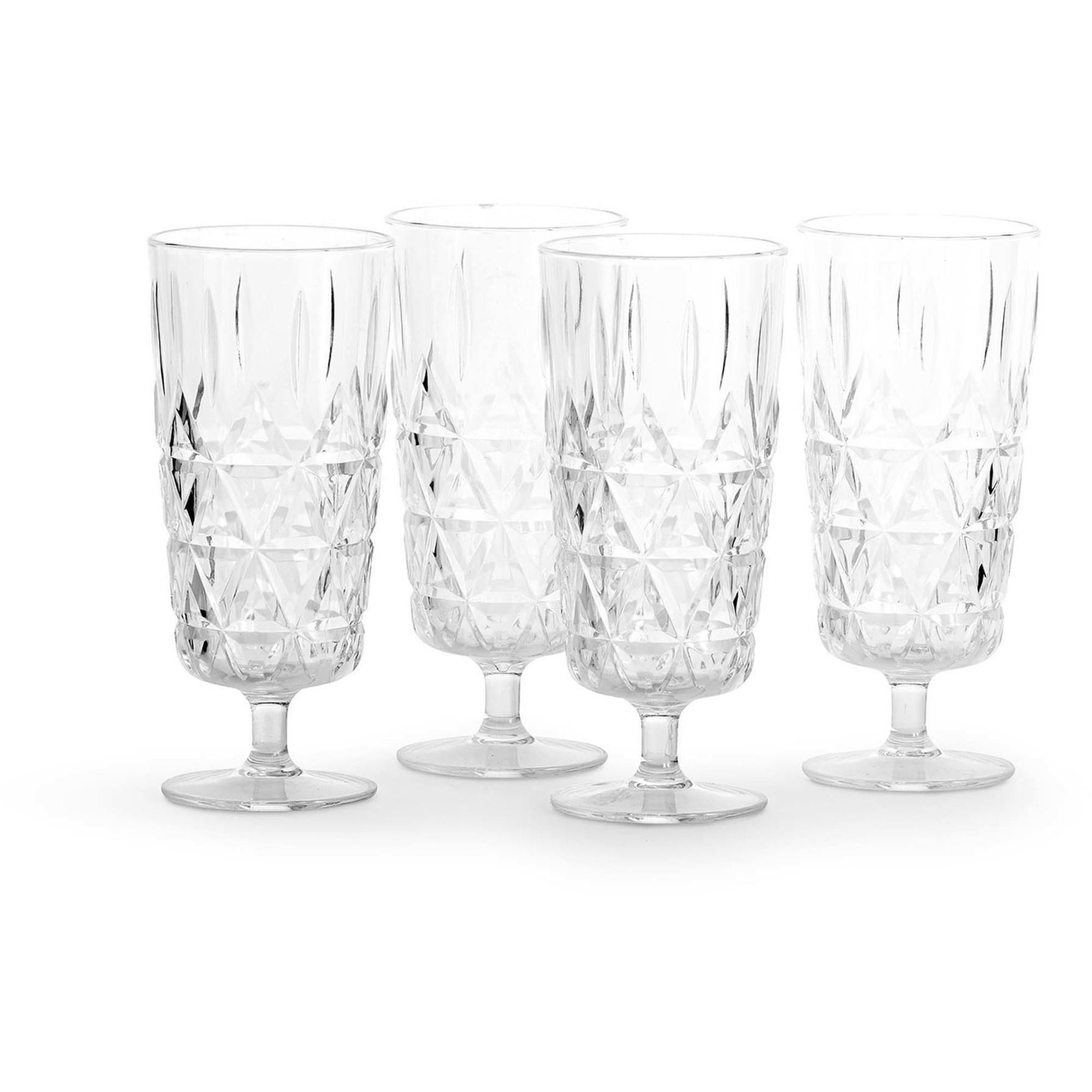 Sagaform Picnic champagne glas 4-pack