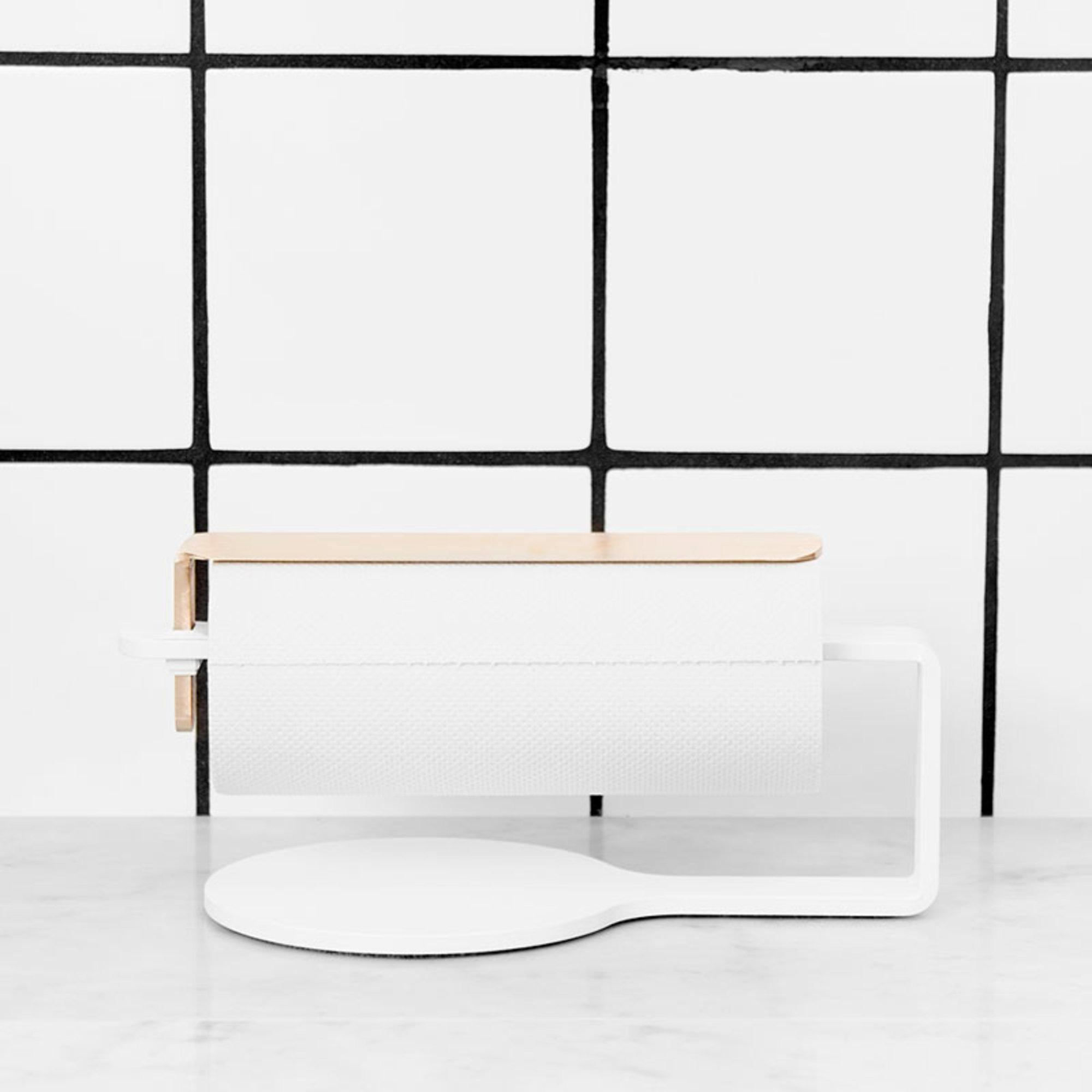 Scandinavian Design Factory Curve Hushållspappershållare Vit/Mässing