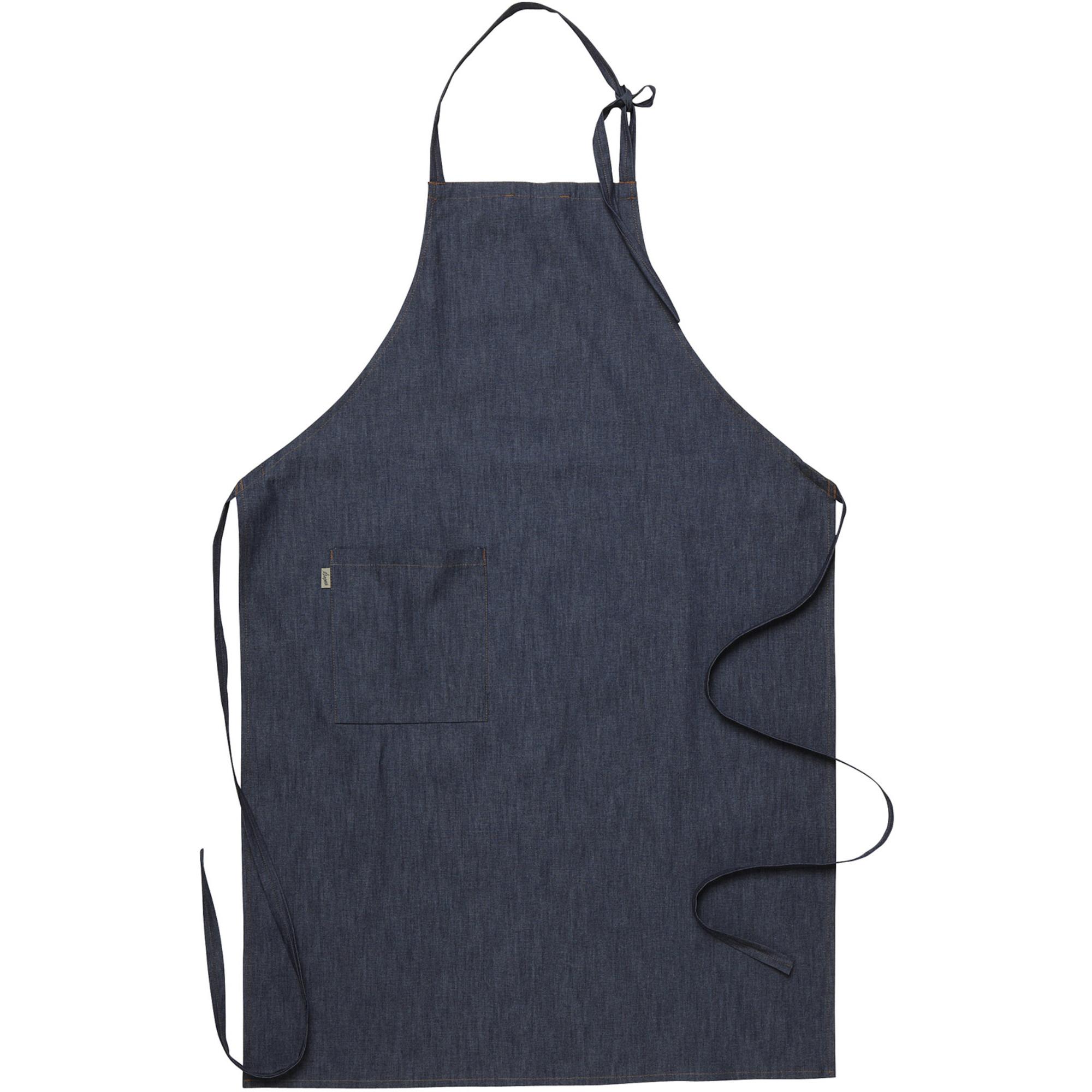 Zwiesel Air Bröstlappsförkläde Mörkblå Denim